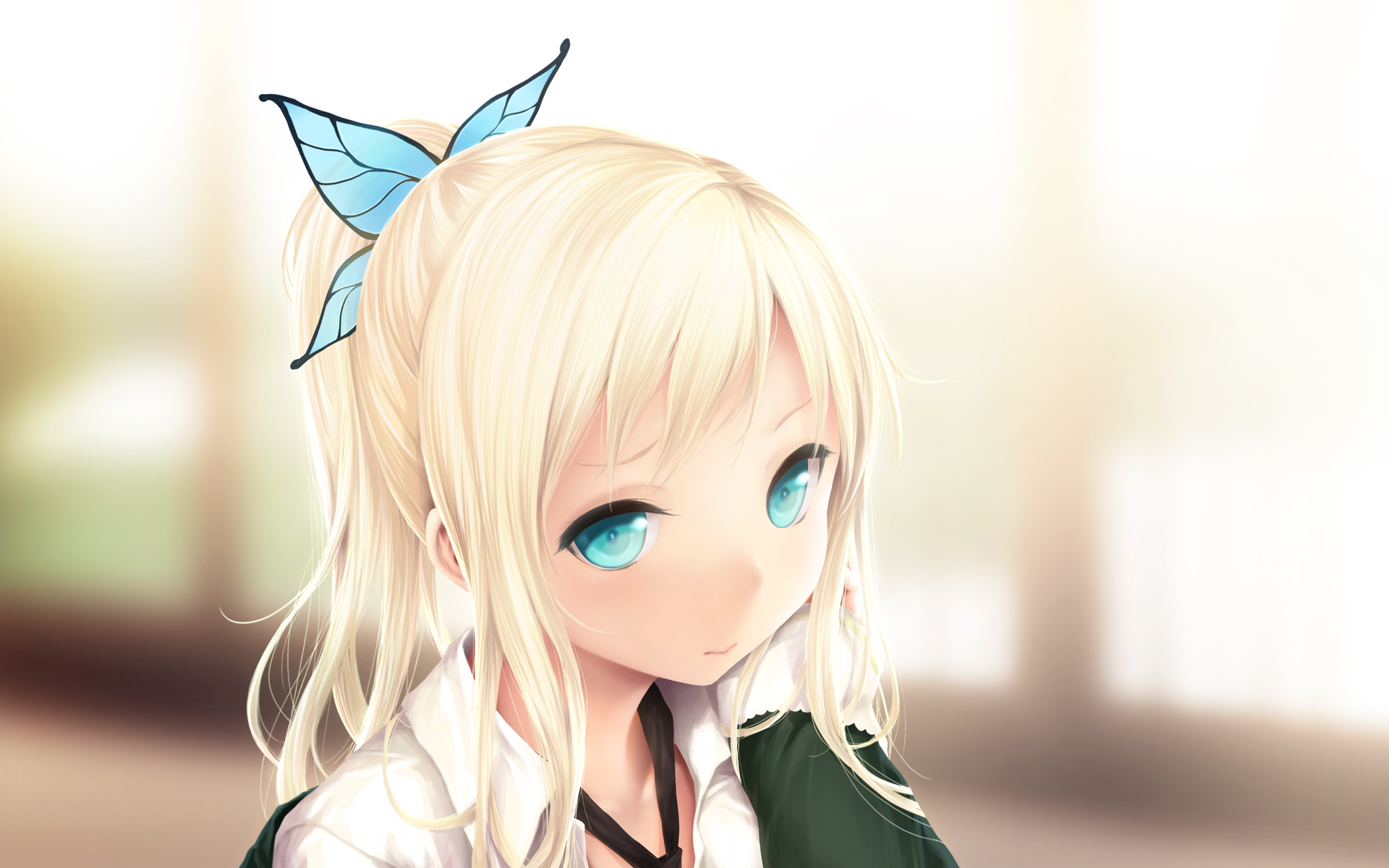 Картинки девушки аниме блондинки, открытки день