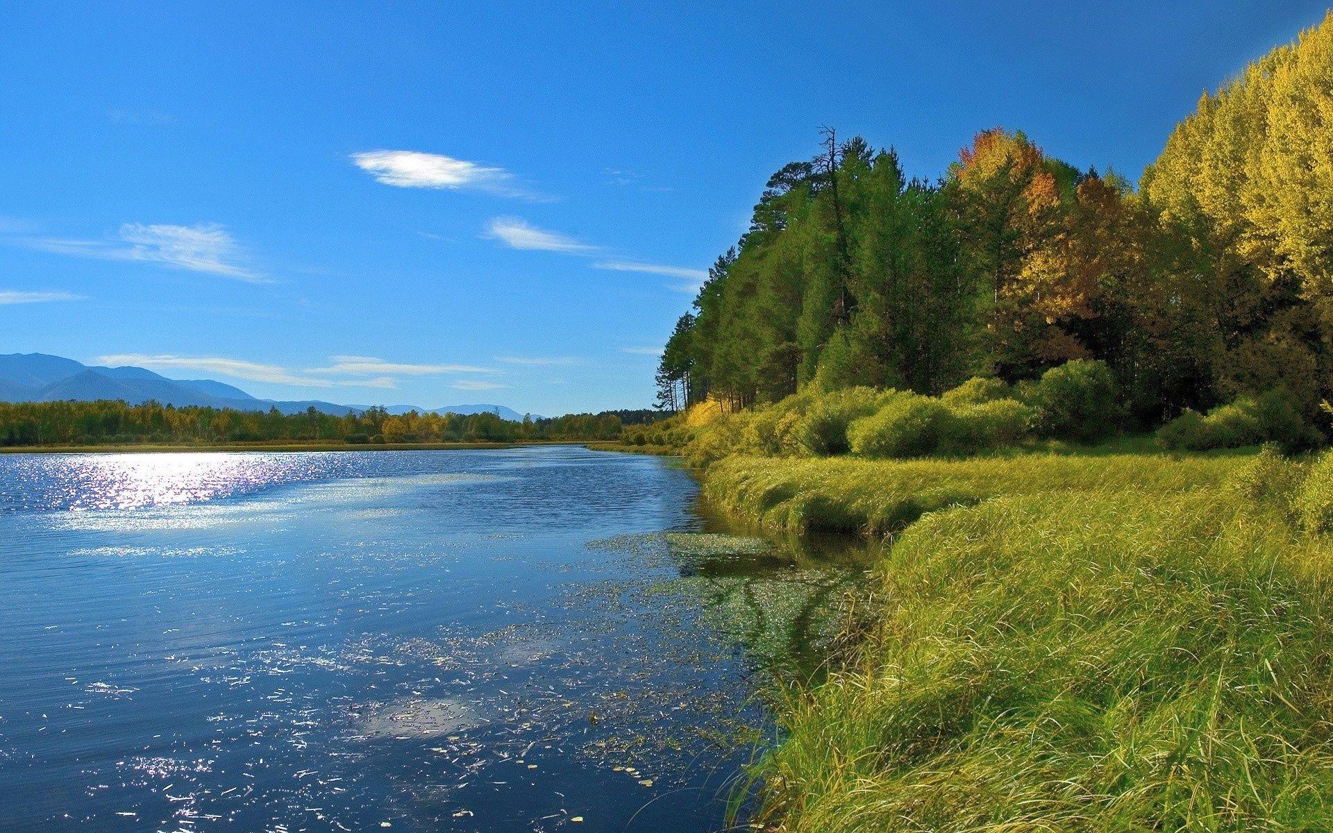 Открытки река, красивые слова