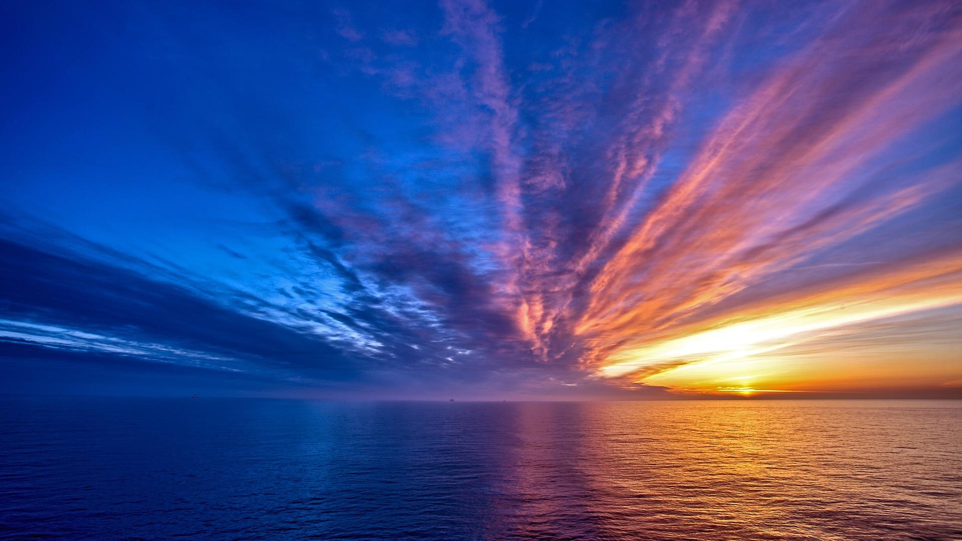 закат вода небо бесплатно