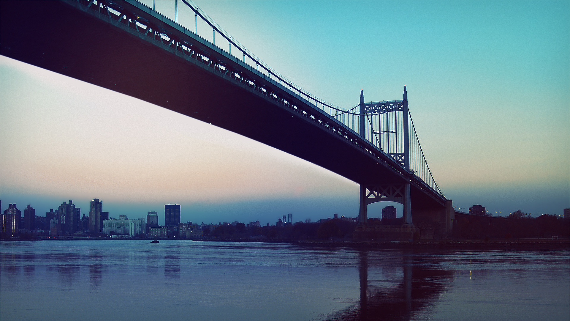 Город мост через реку  № 3713089 без смс