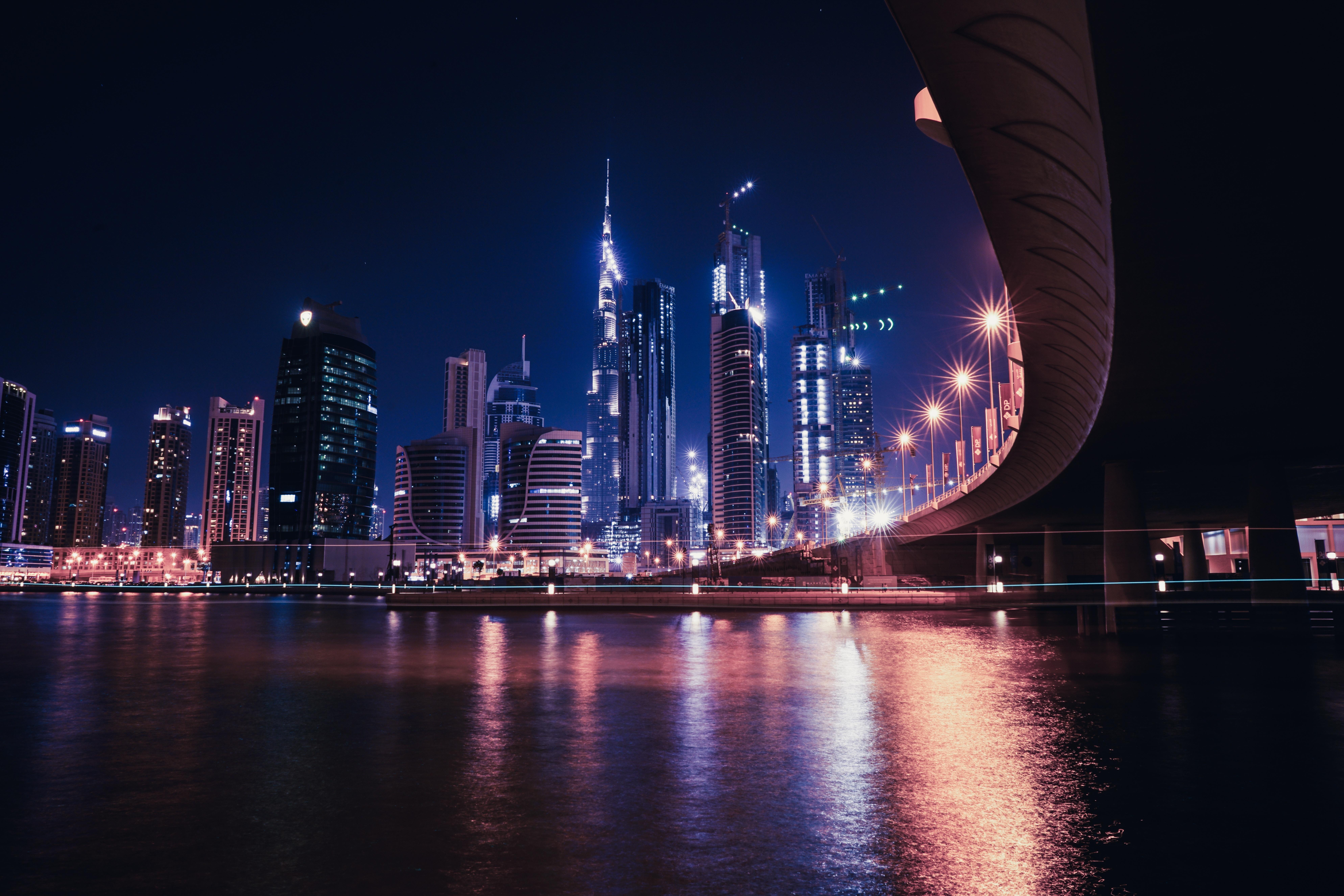 сразу написали красивые картинки ночного города на рабочий около макро