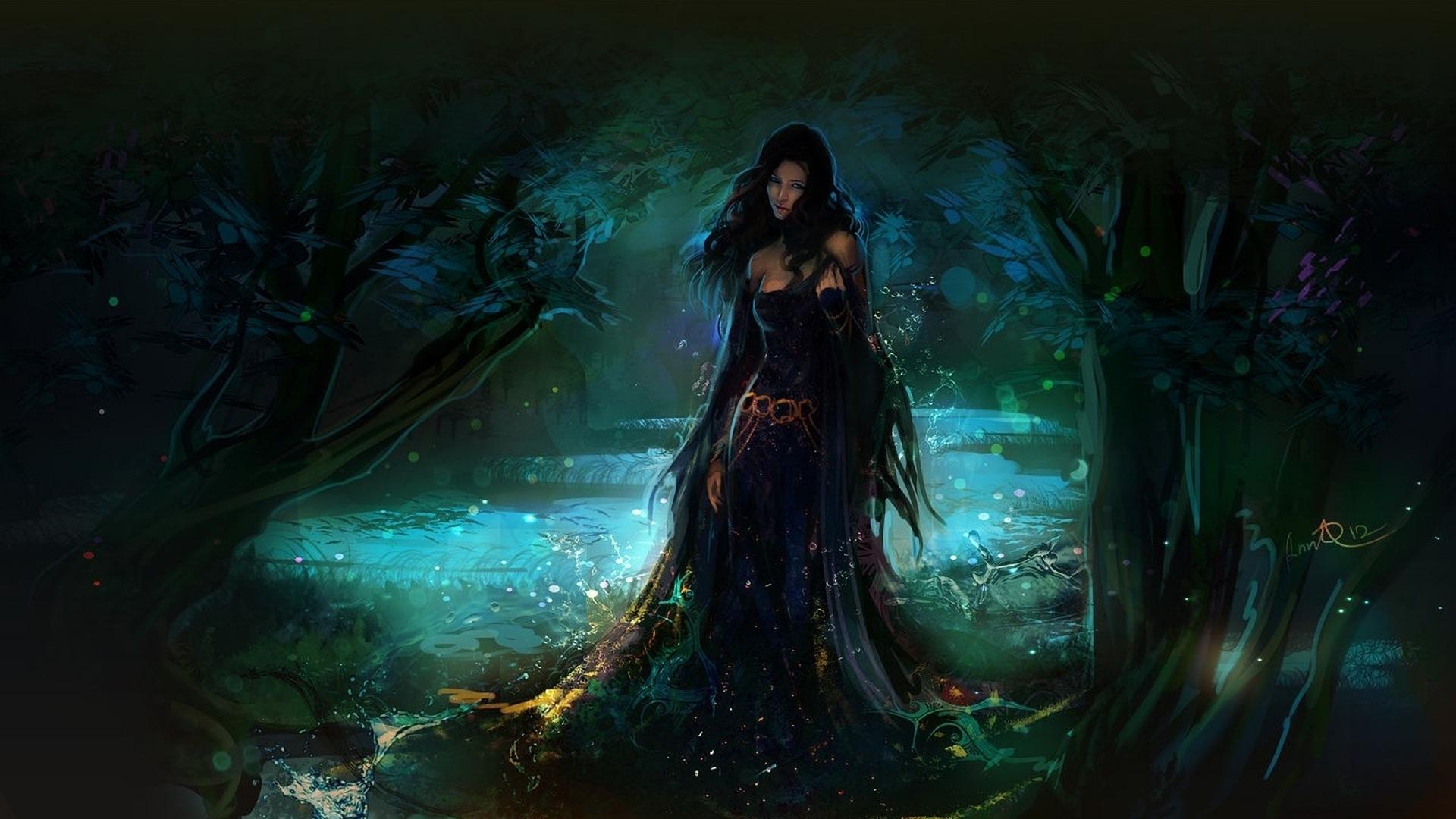 Девушка, ведьма, огонь, камни подборки
