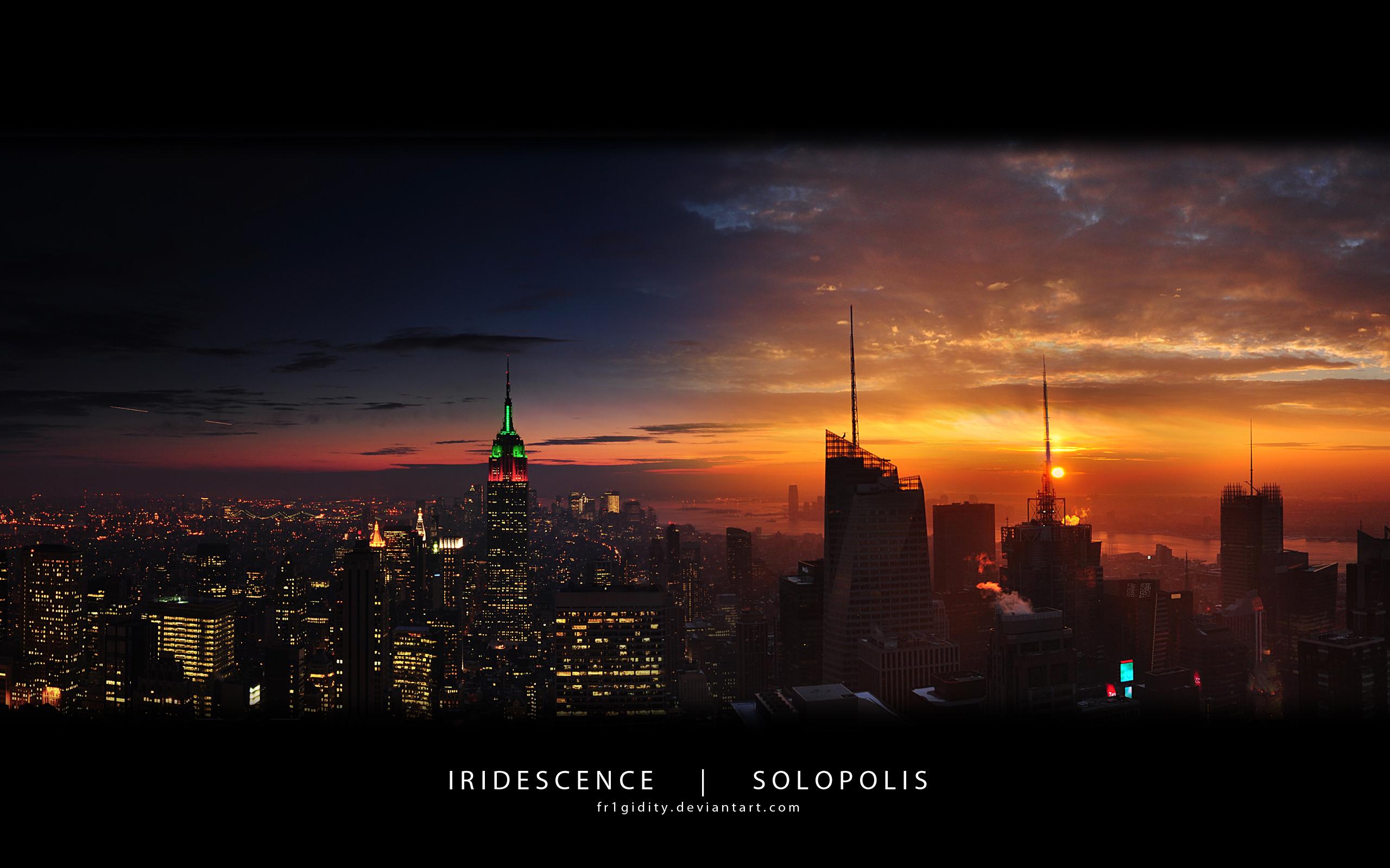 Закат над городом небоскребы скачать