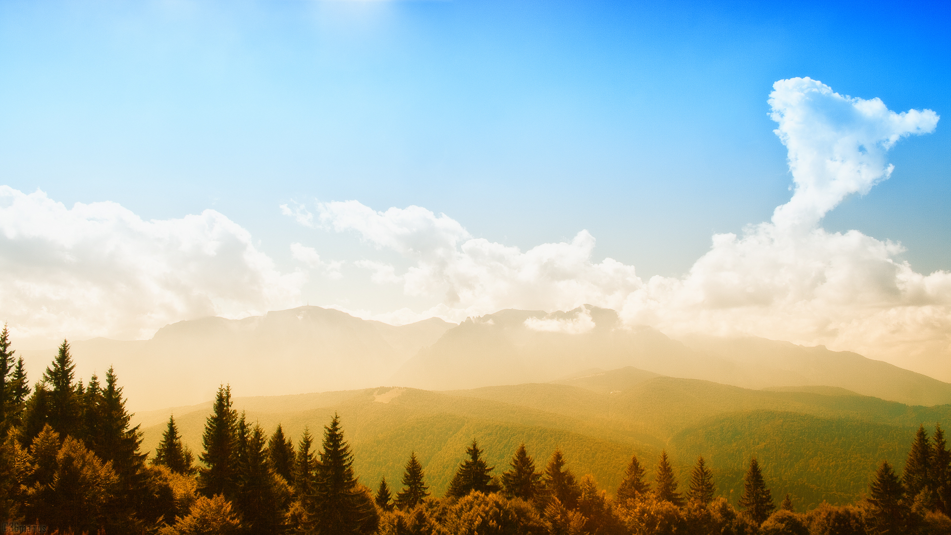 природа горы облака  № 2602249 загрузить
