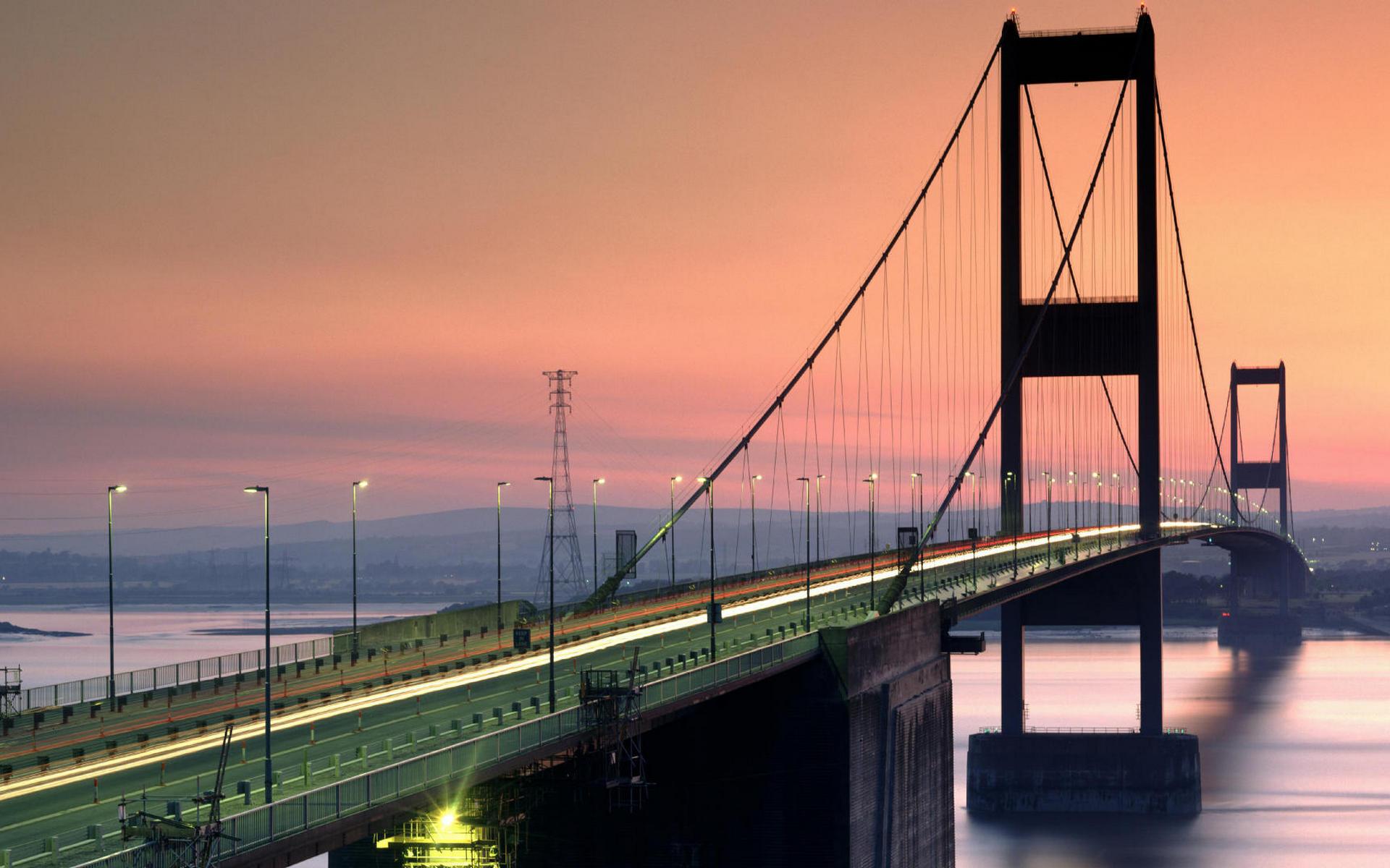 Город мост через реку  № 3713109  скачать