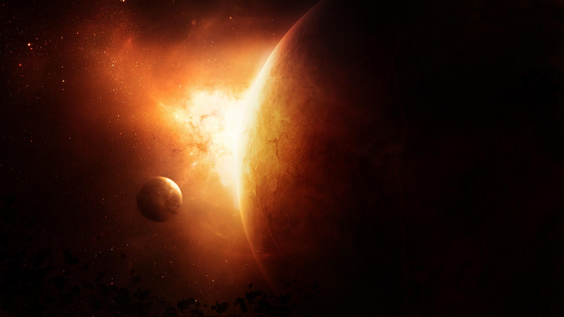 Обои огненная планета картинки на рабочий стол на тему Космос - скачать  № 433746 загрузить