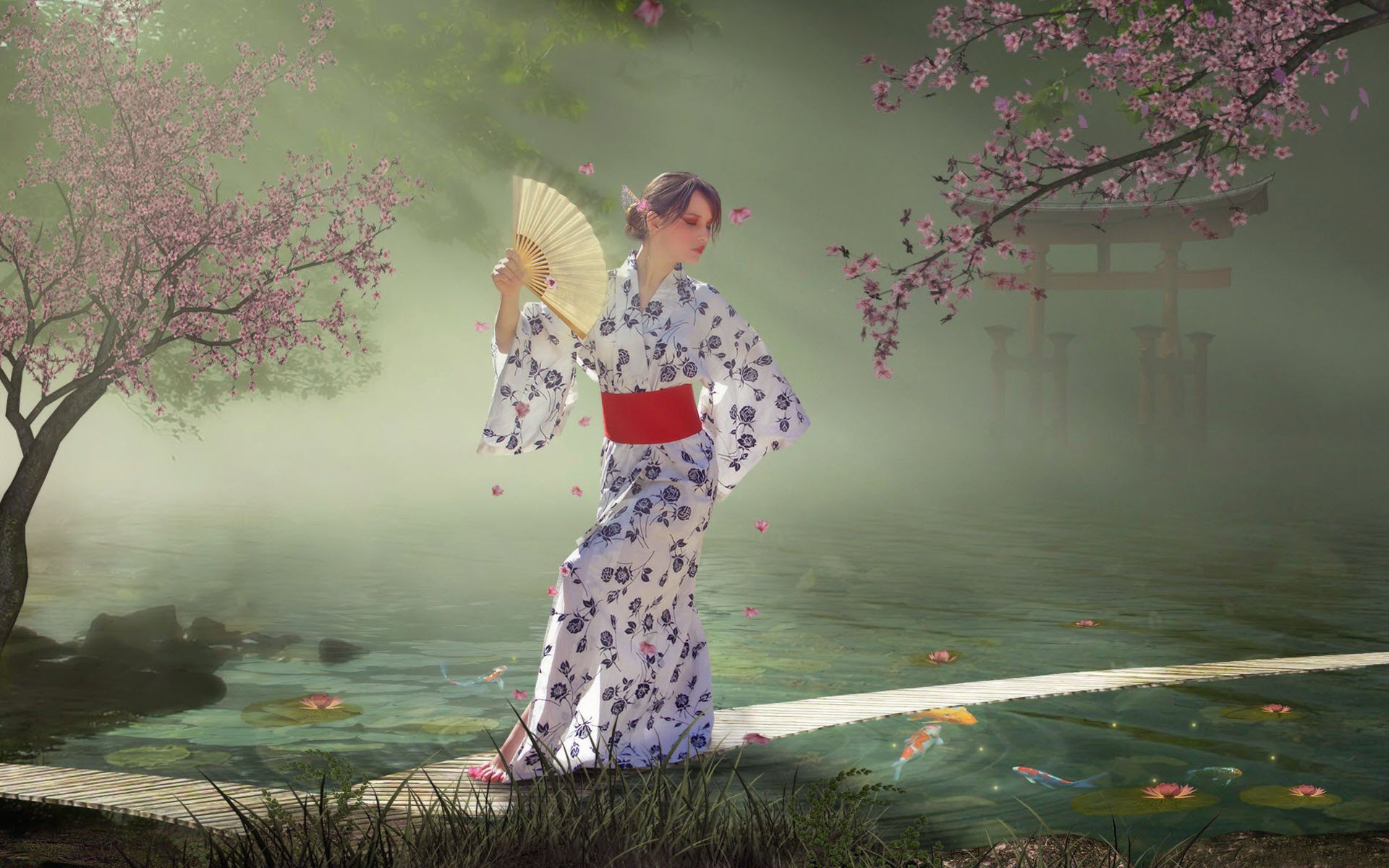 Девушка цветение сад бесплатно