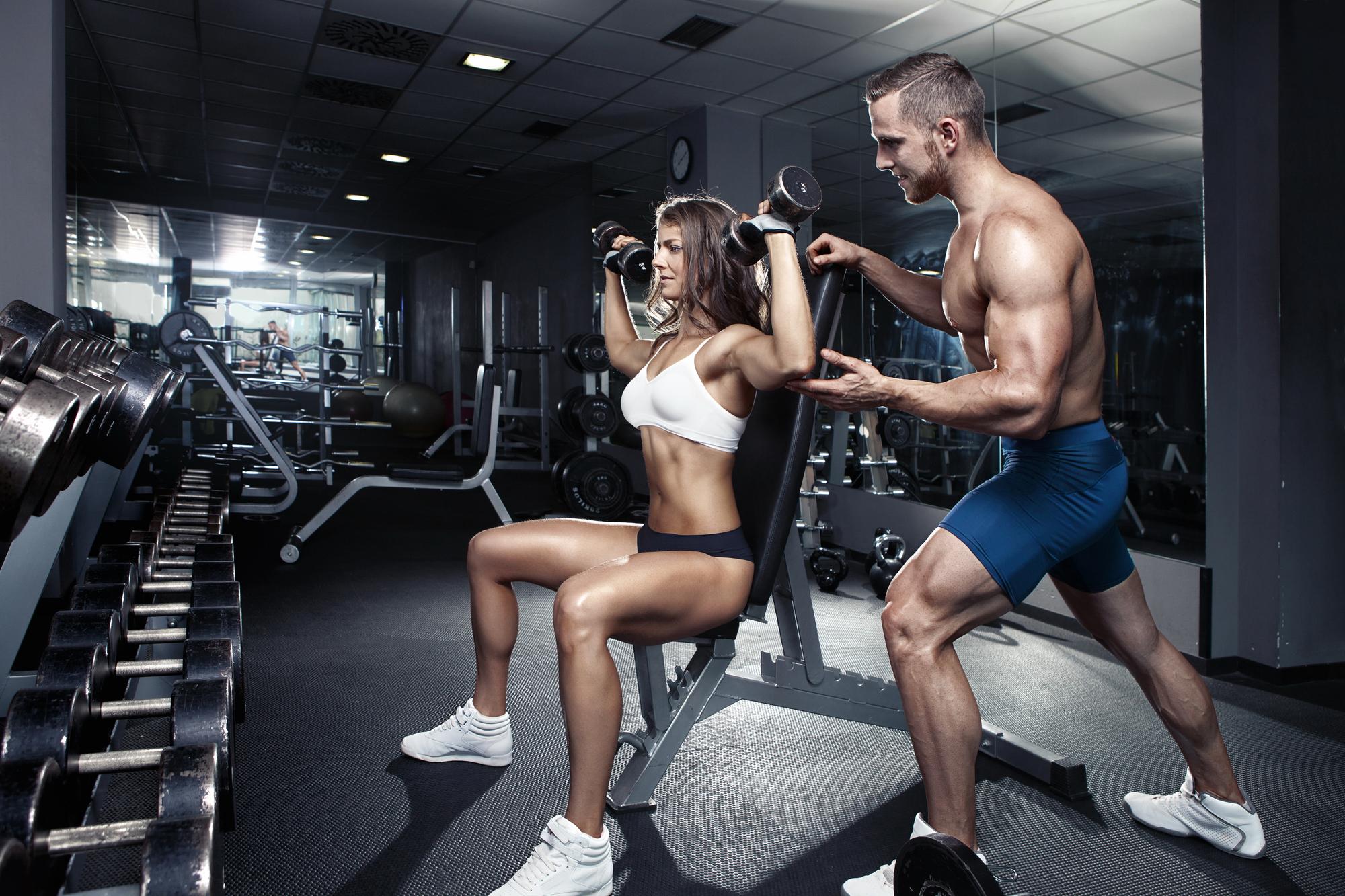 Тренировка в картинках в спортзал