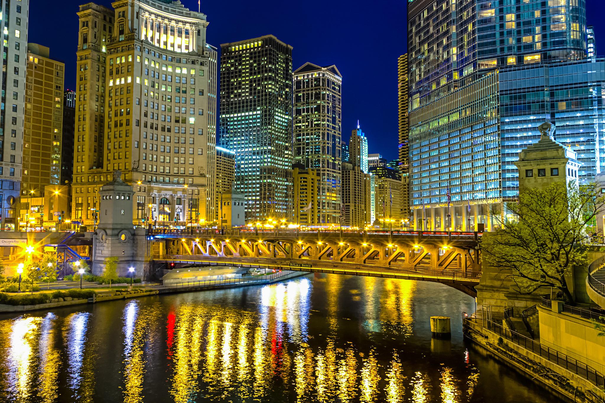 город ночь освещение отражение  № 3927573 загрузить