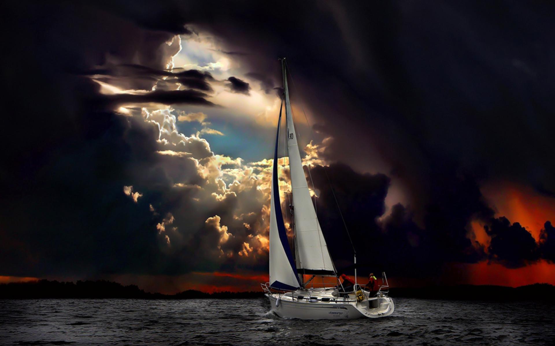 ночь яхта корабль  № 3498337 бесплатно