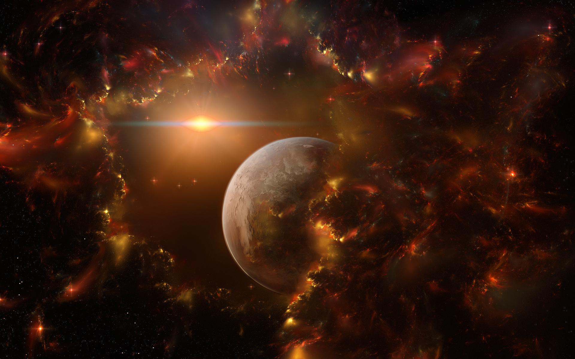 Обои Свечение за планетами картинки на рабочий стол на тему Космос - скачать  № 1772785  скачать