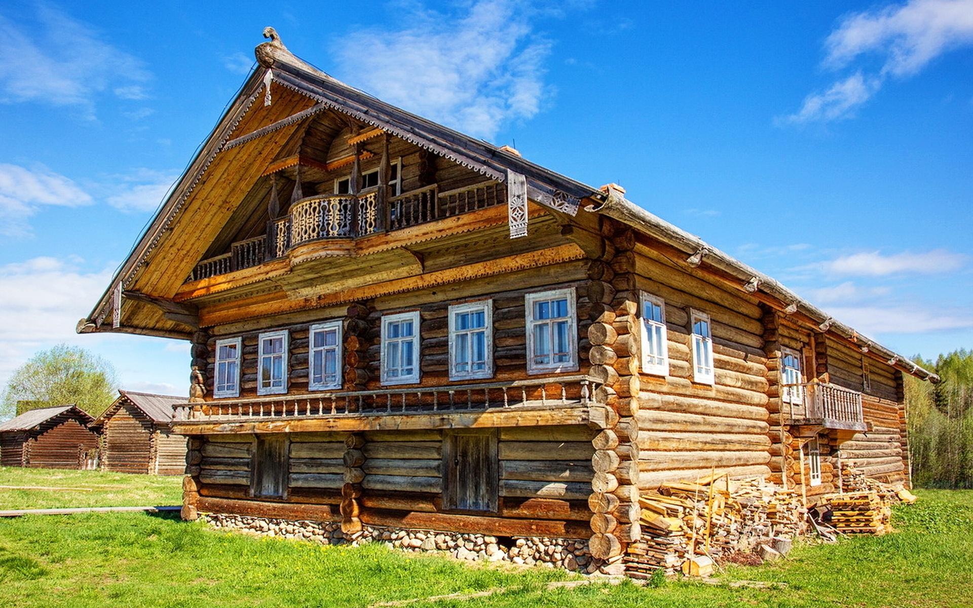 вам картинки деревянного деревенского дома свою