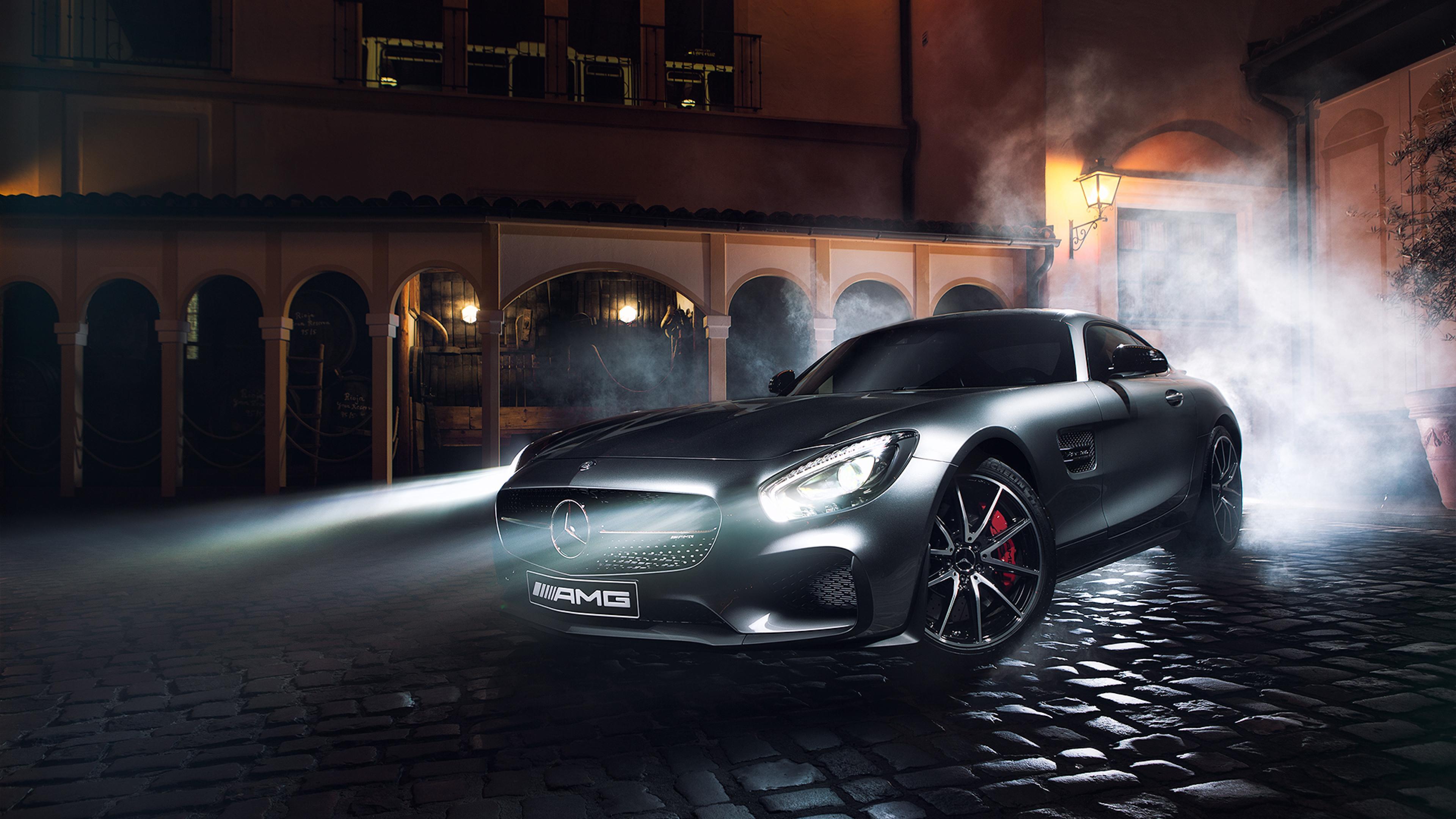 Mercedes-Benz фары ночь подборки