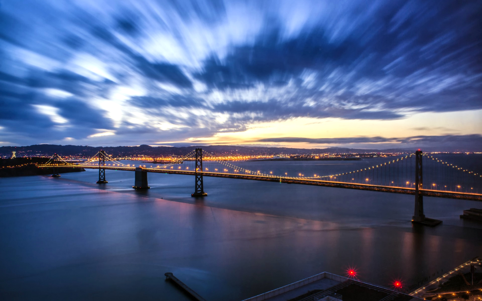 Evening Crossing, Bay Bridge, San Francisco, California загрузить