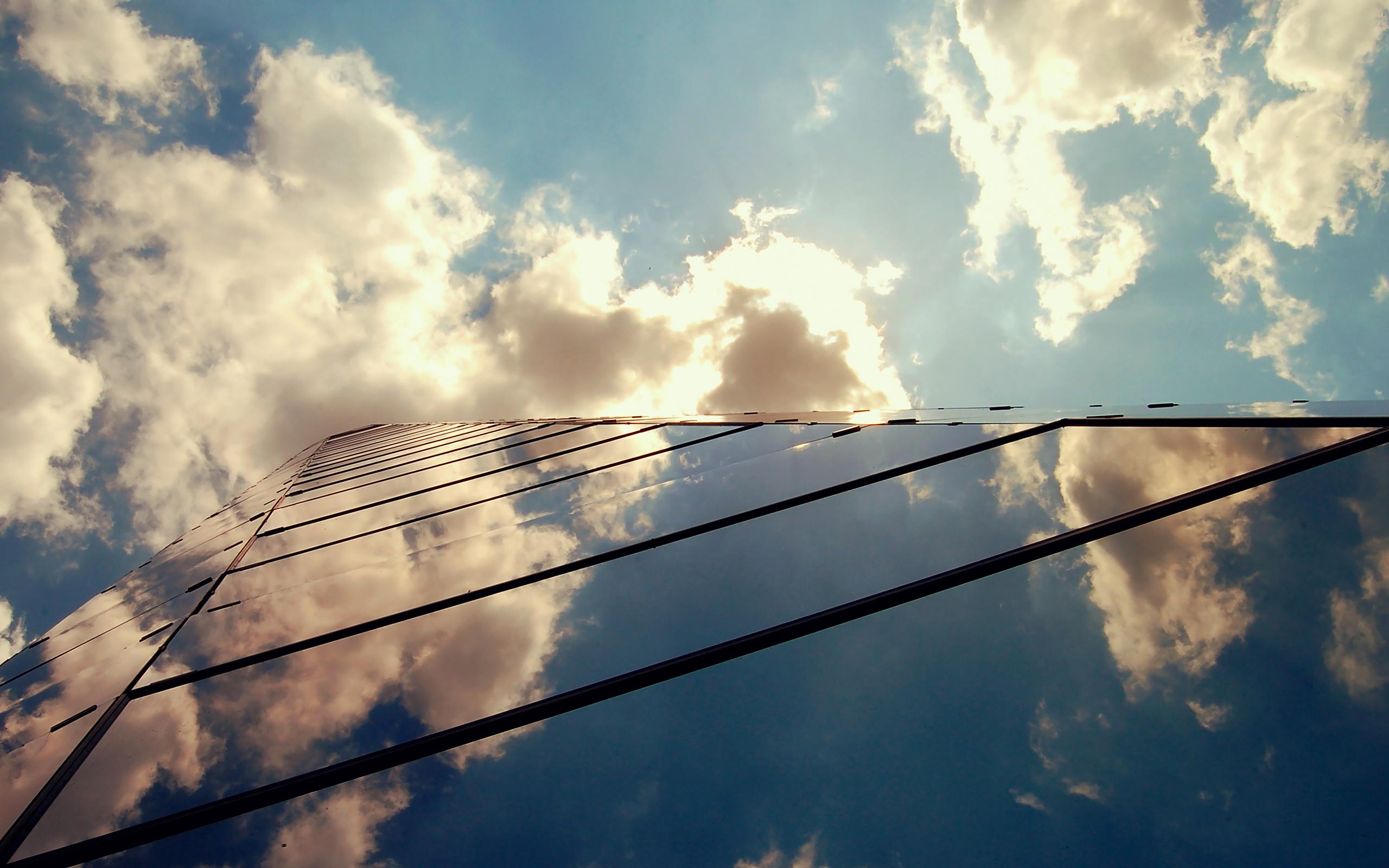 Стекло небоскреб отражение скачать