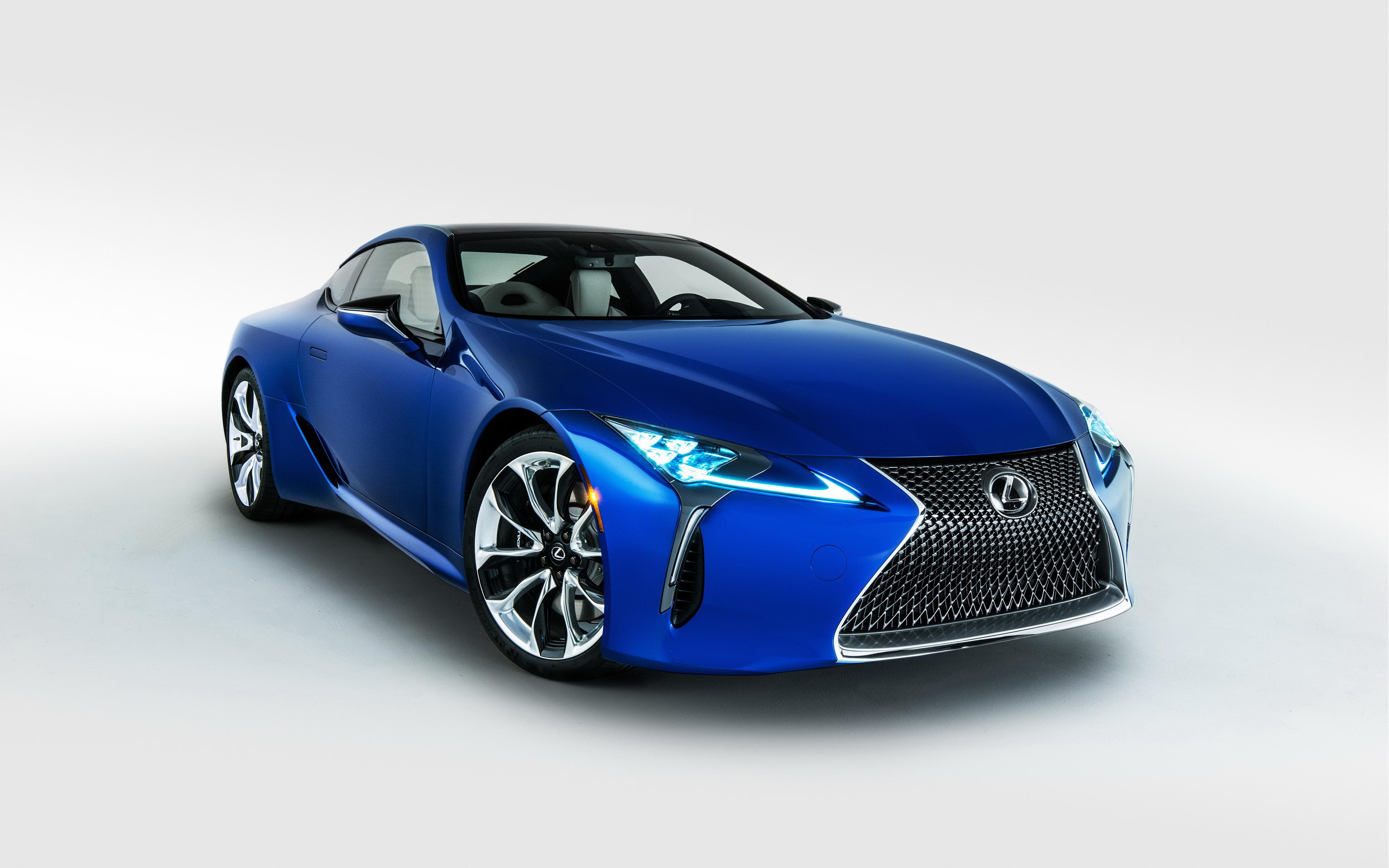 спортивный автомобиль синий Lexus LC скачать