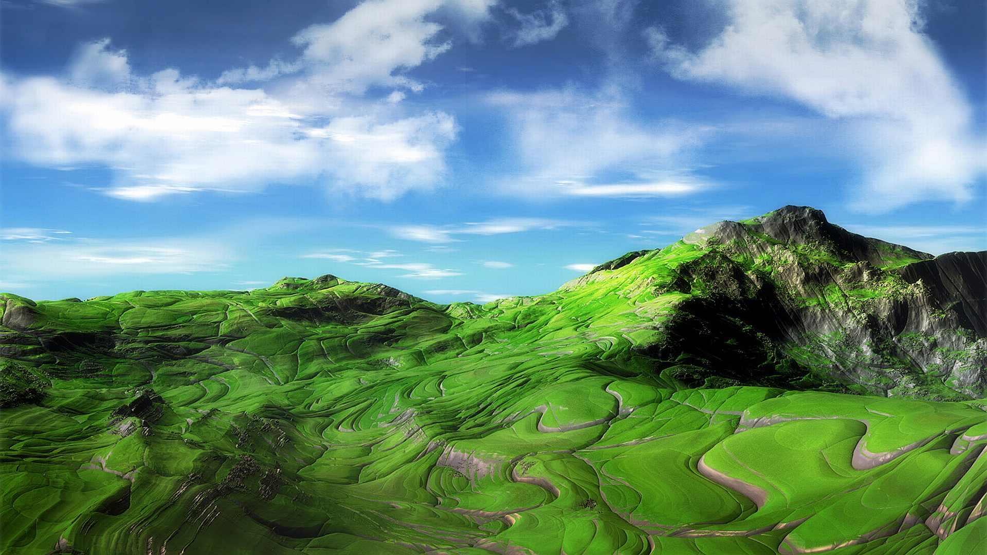 Горы зелень вода  № 657967 загрузить