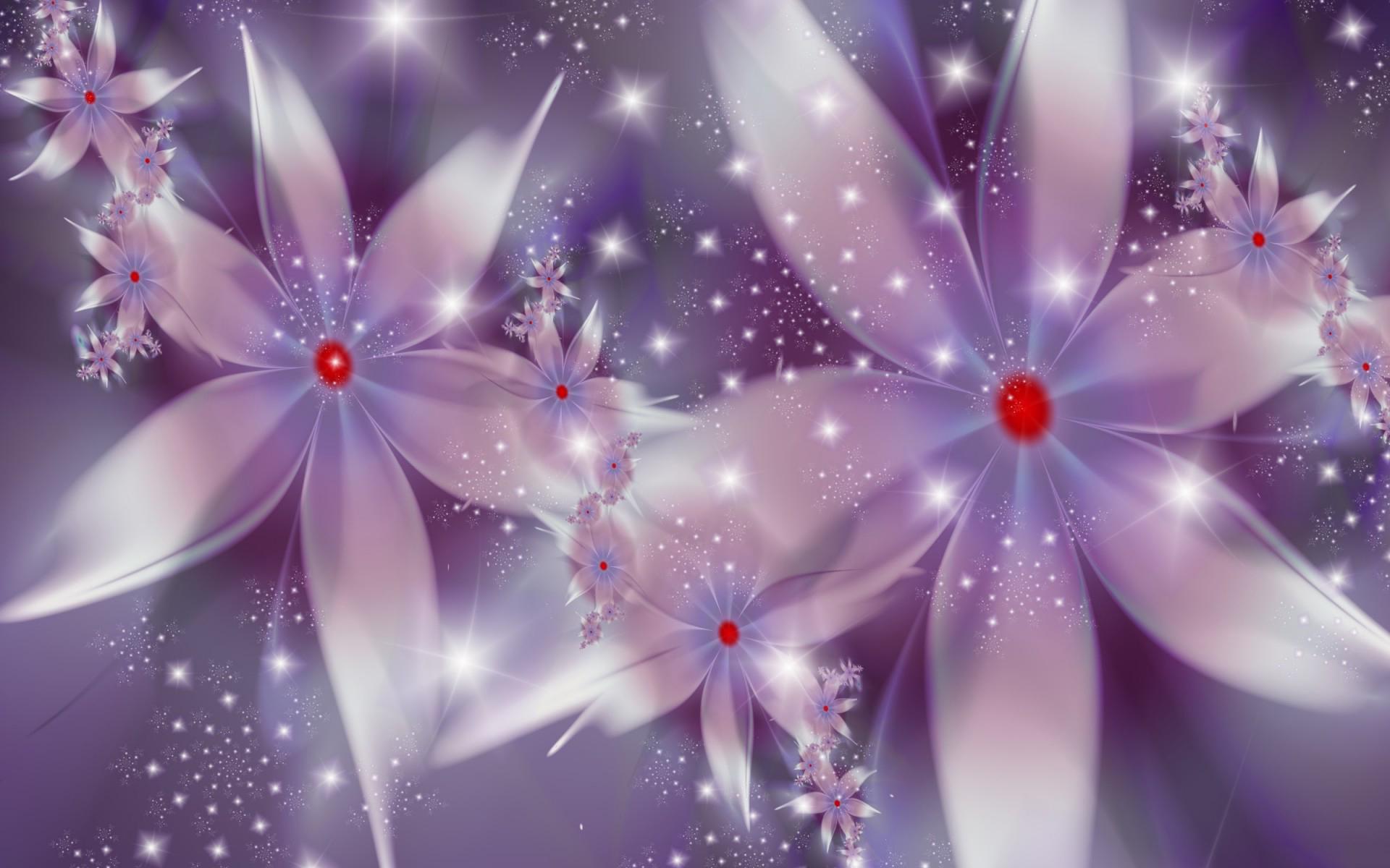 цветок сиреневый абстракция загрузить