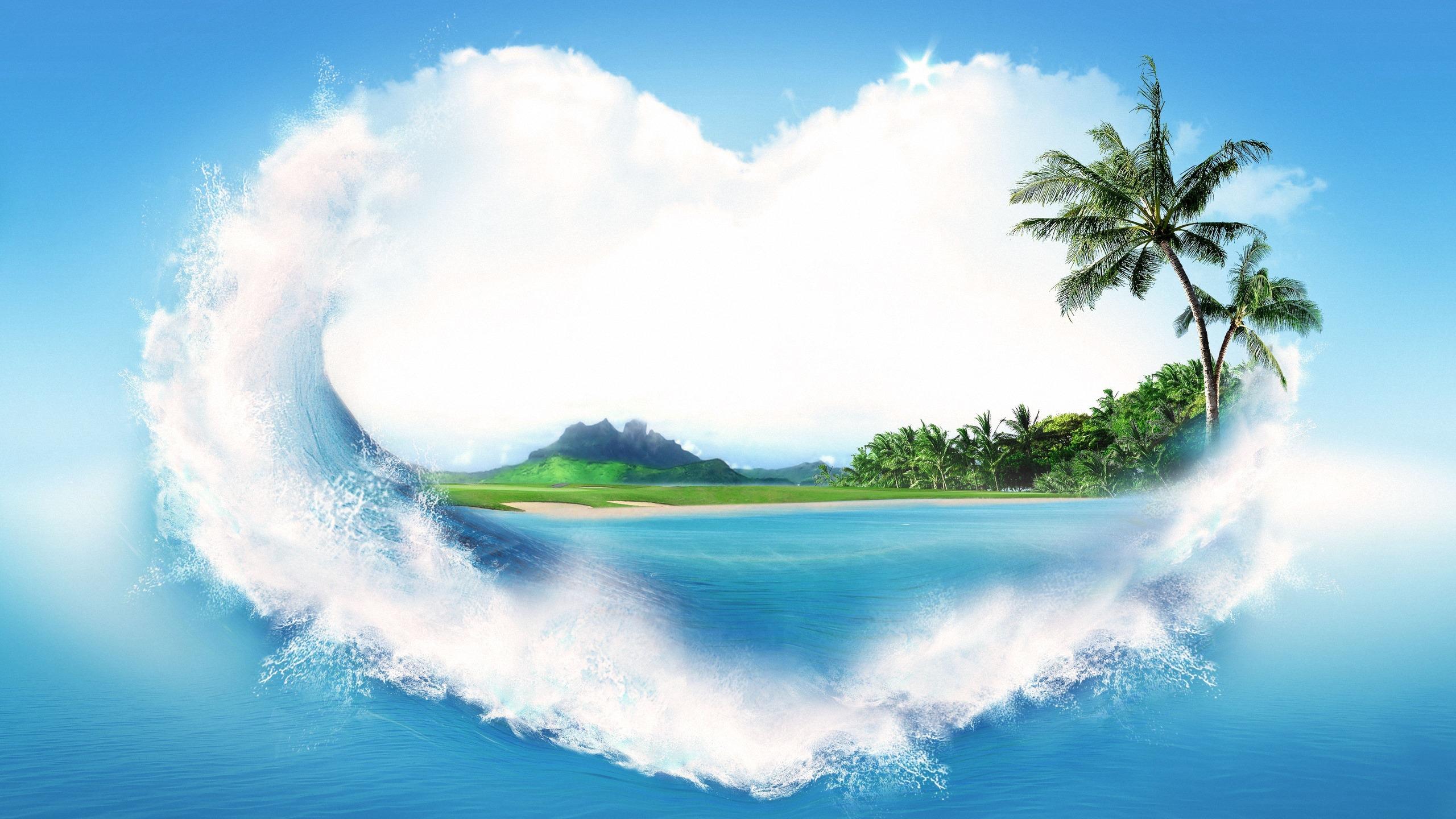 Картинка с надписью остров
