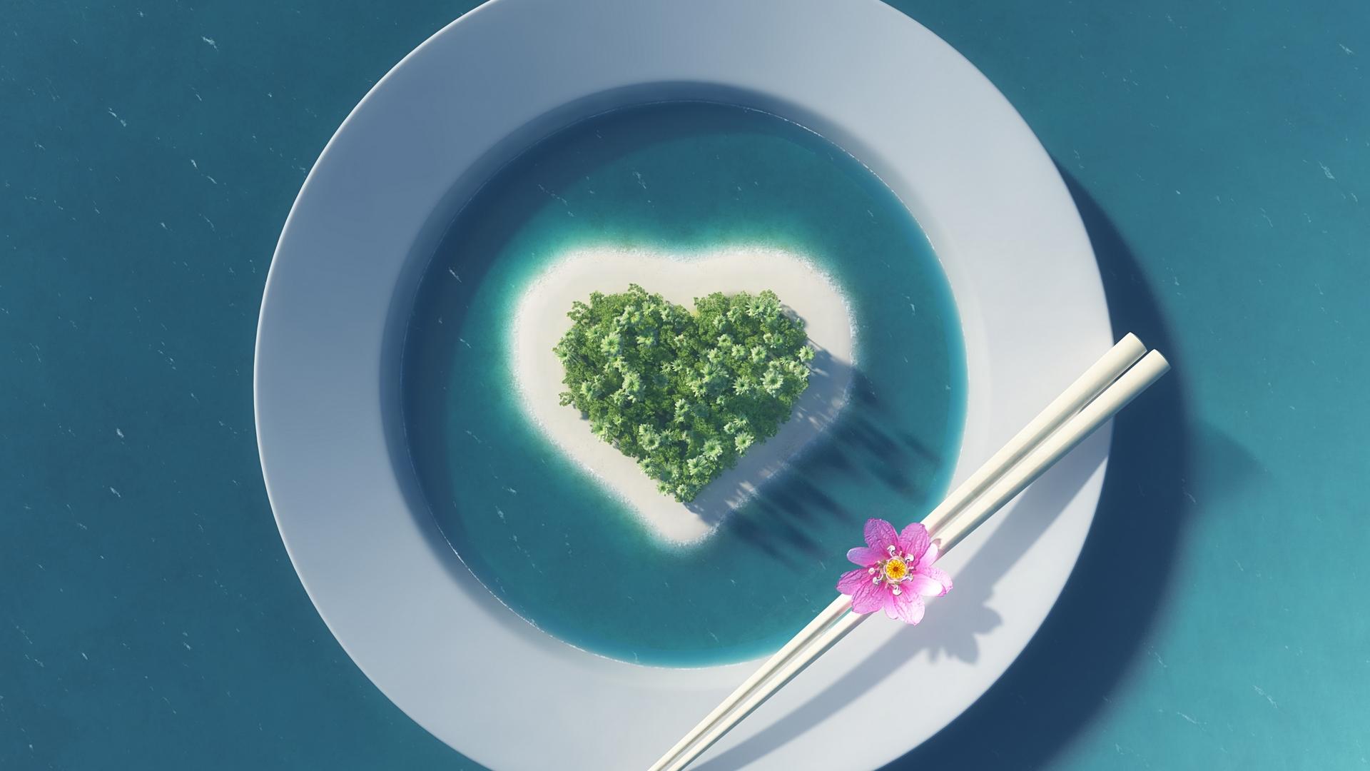Острова в виде сердца без смс