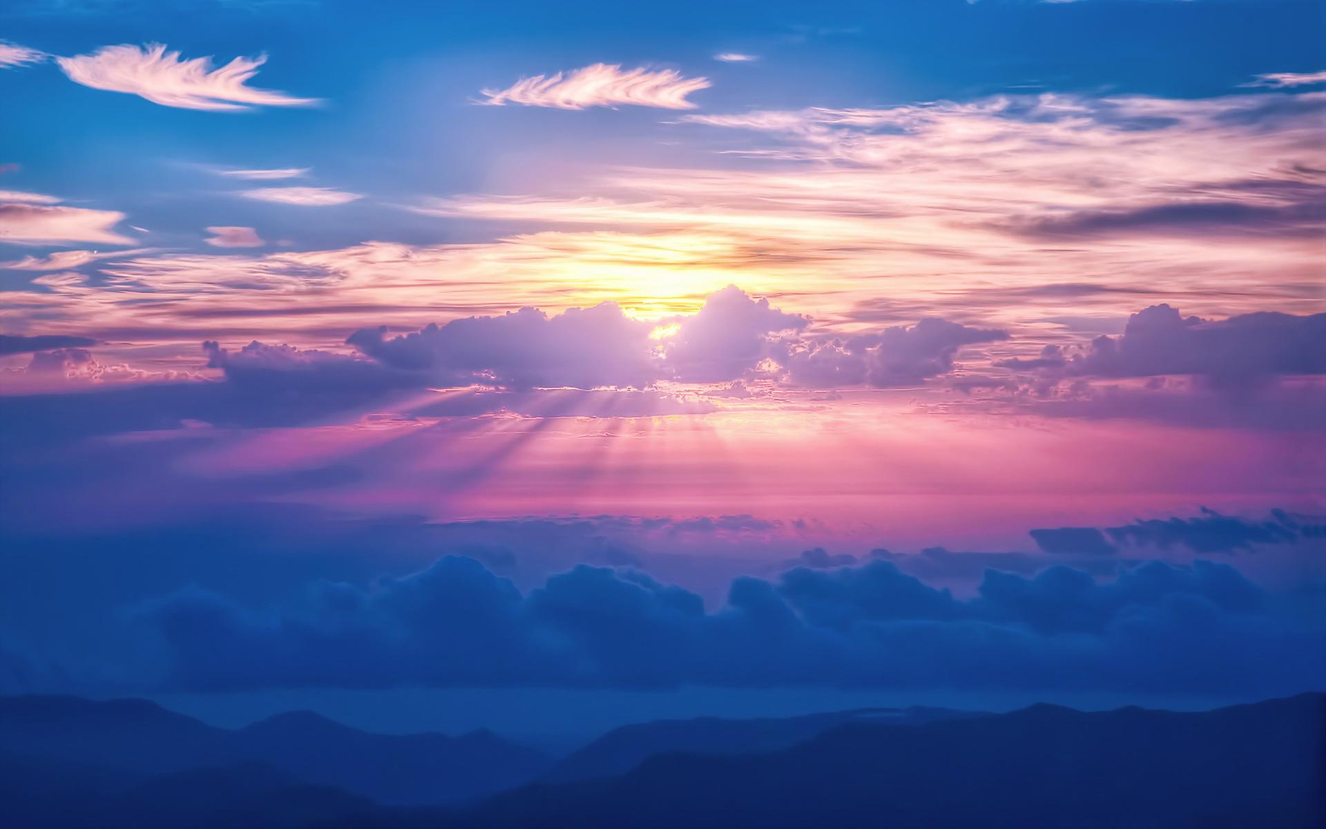 Цветной бумаги, картинки красивые небо облака