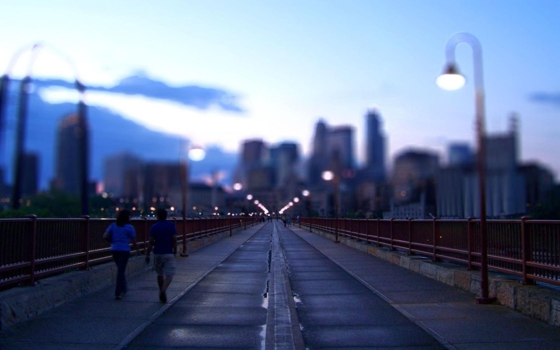 Мост с фонарями загрузить