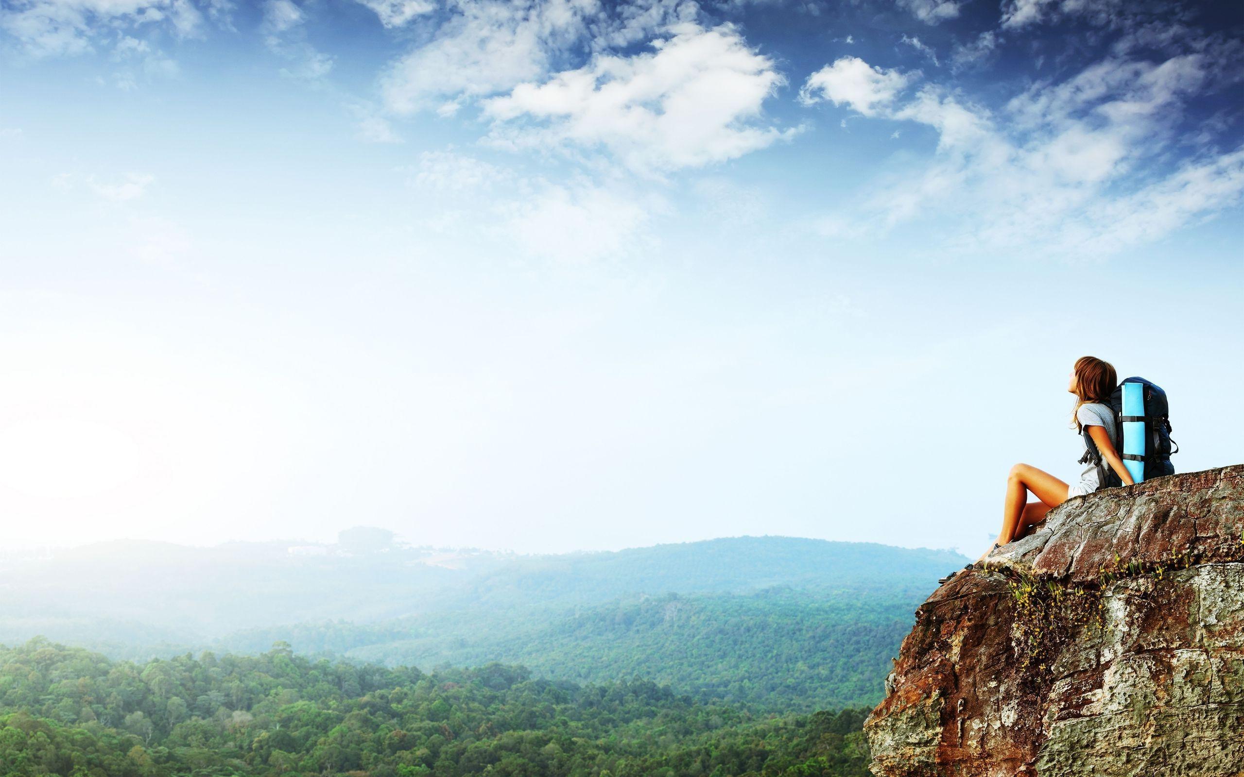 горы скалы небо облака высота природа  № 3352068  скачать
