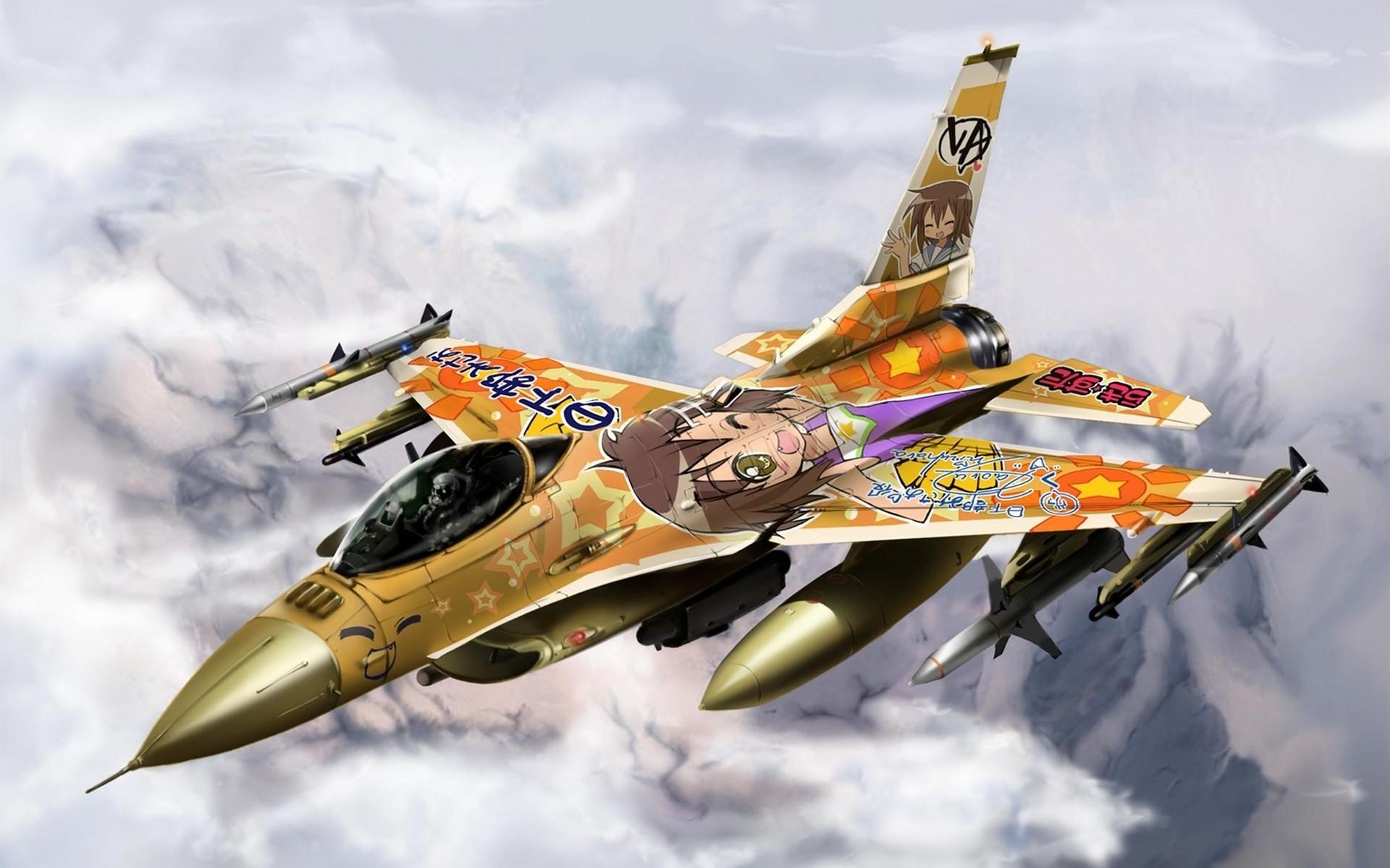 авиация самолет желтый F-16 Fighting Falcon  № 3755651  скачать