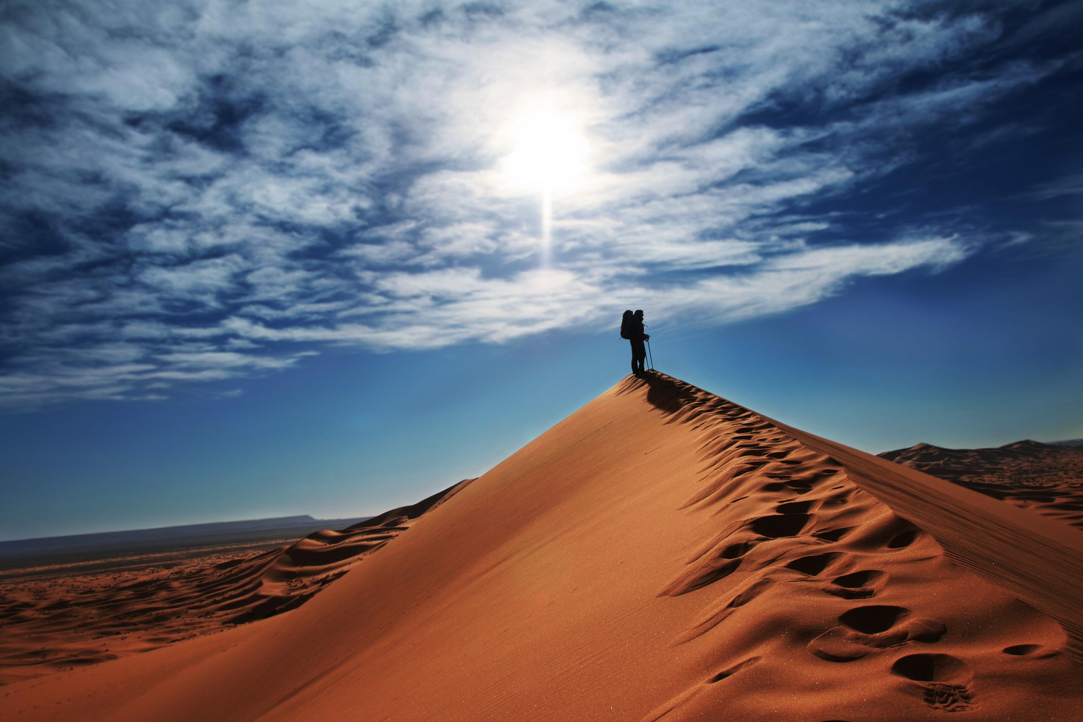 песчаные горы в пустыне  № 3606027  скачать