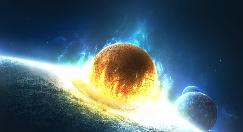 Обои планета земля свечение картинки на рабочий стол на тему Космос - скачать бесплатно