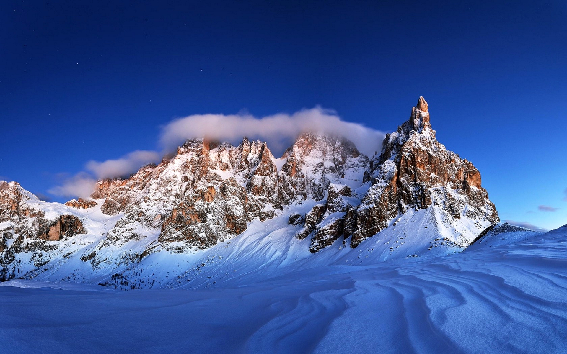природа зима снег горы скалы деревья  № 2781227 без смс