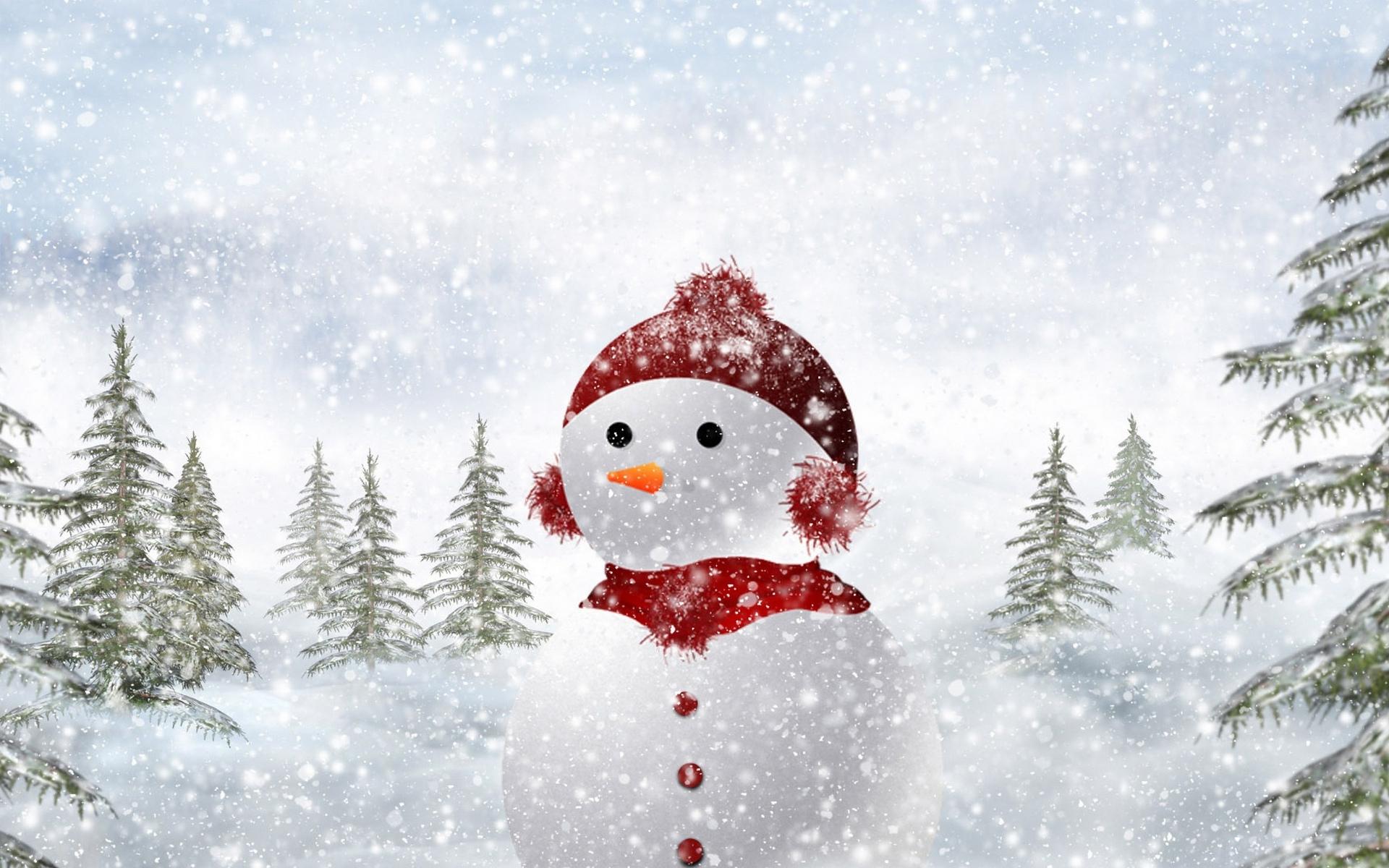 Снеговик фонарь снег горы Snowman lantern snow mountains загрузить