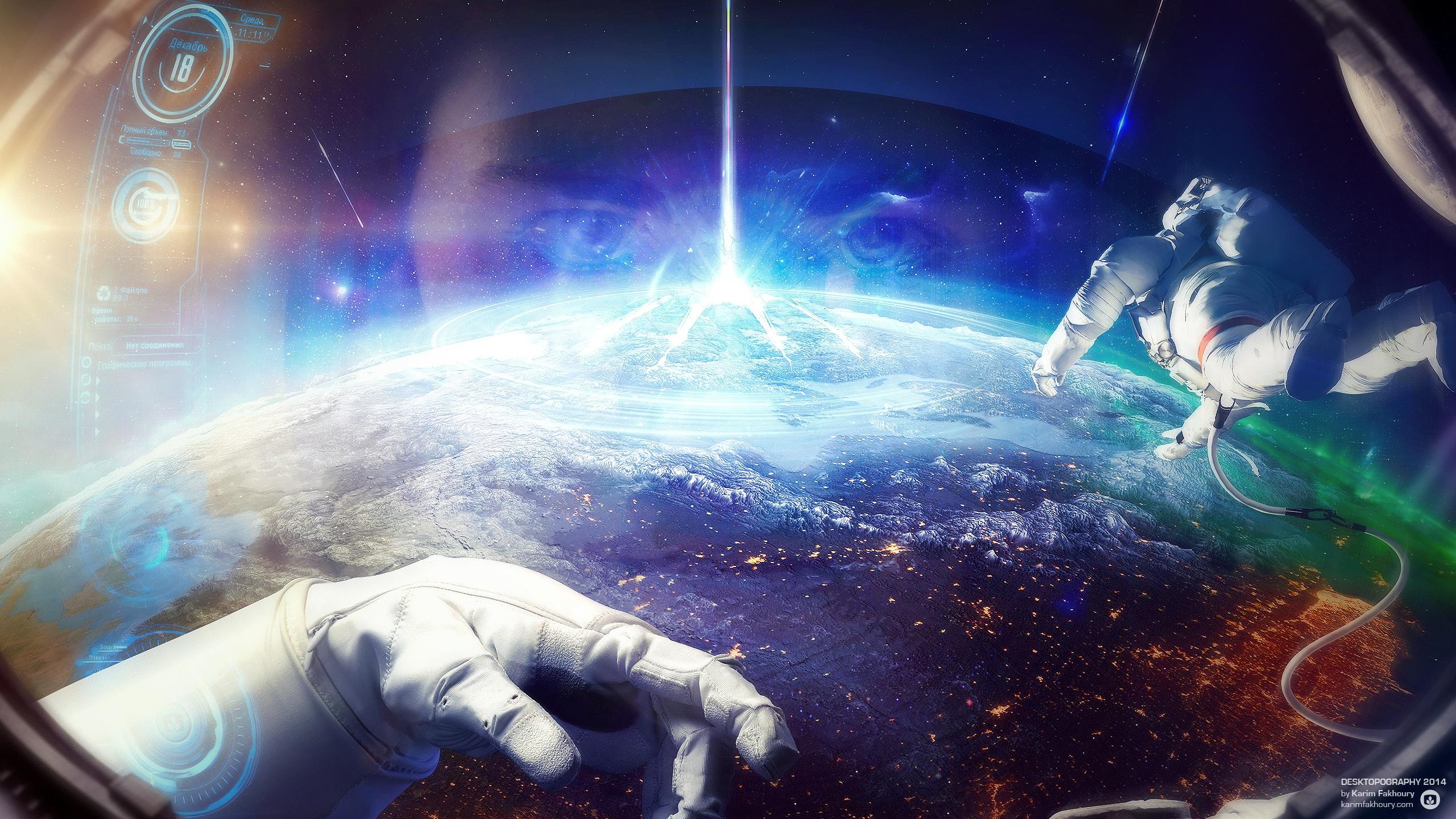 космос трава космонавт space grass astronaut скачать