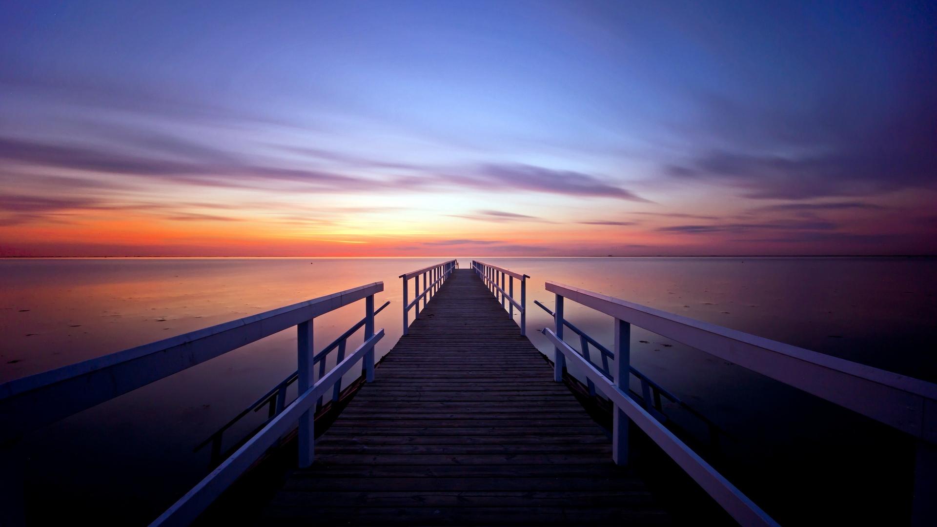 мост фонари море небо  № 3388121 без смс