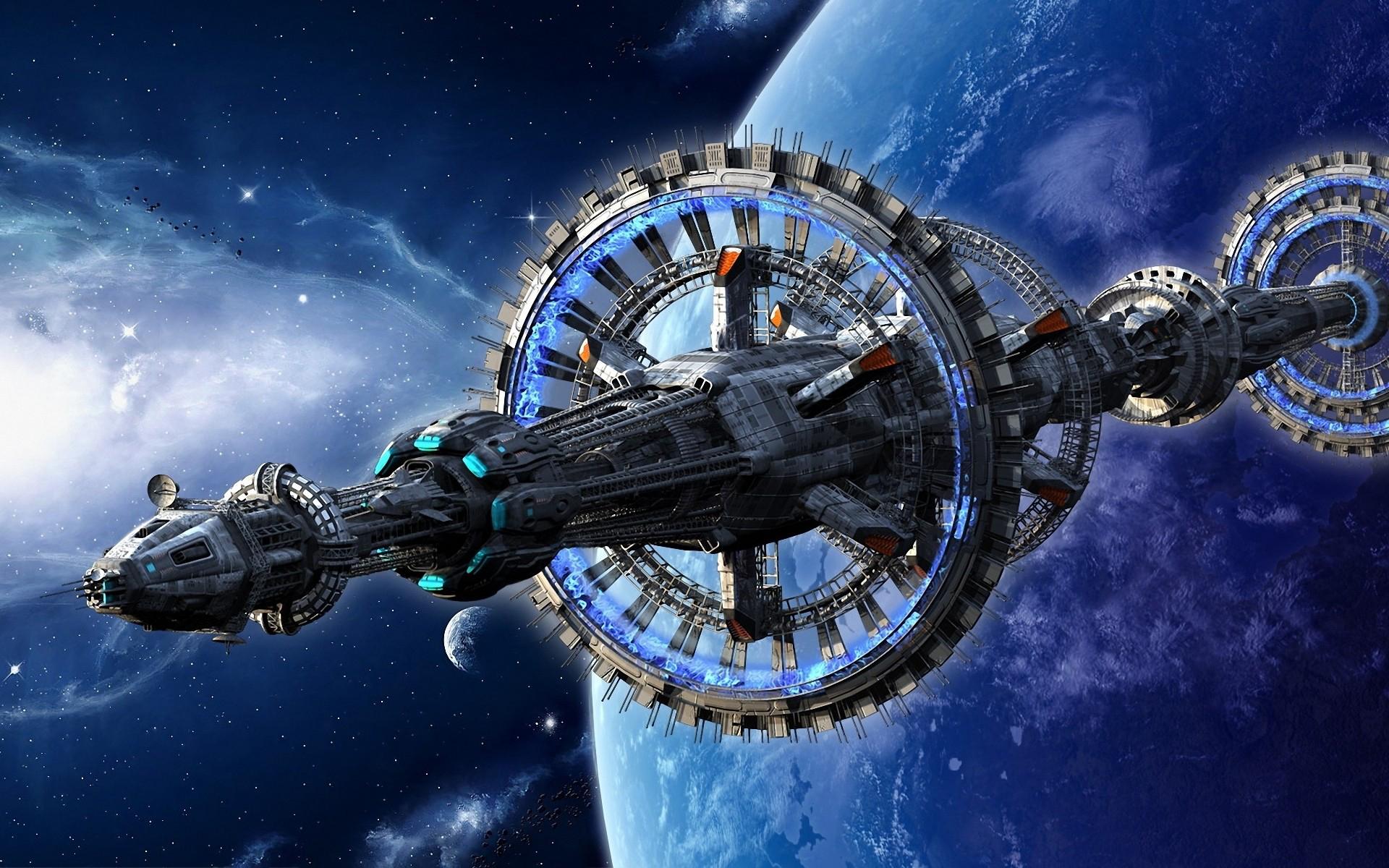 Обои Разрушенная планета, корабль картинки на рабочий стол на тему Космос - скачать  № 3552404 загрузить