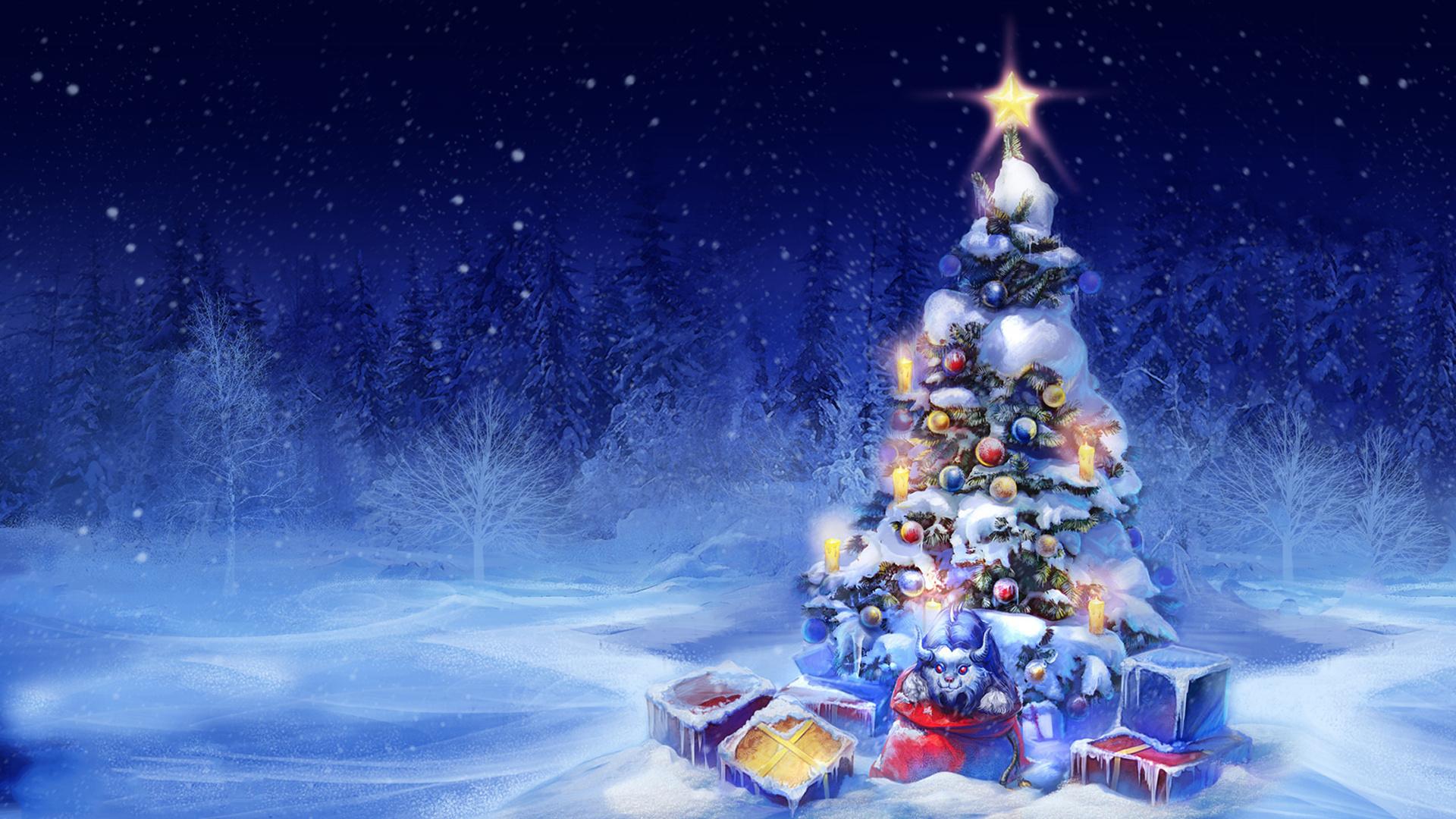 Днем рождения, елки картинки на новый год