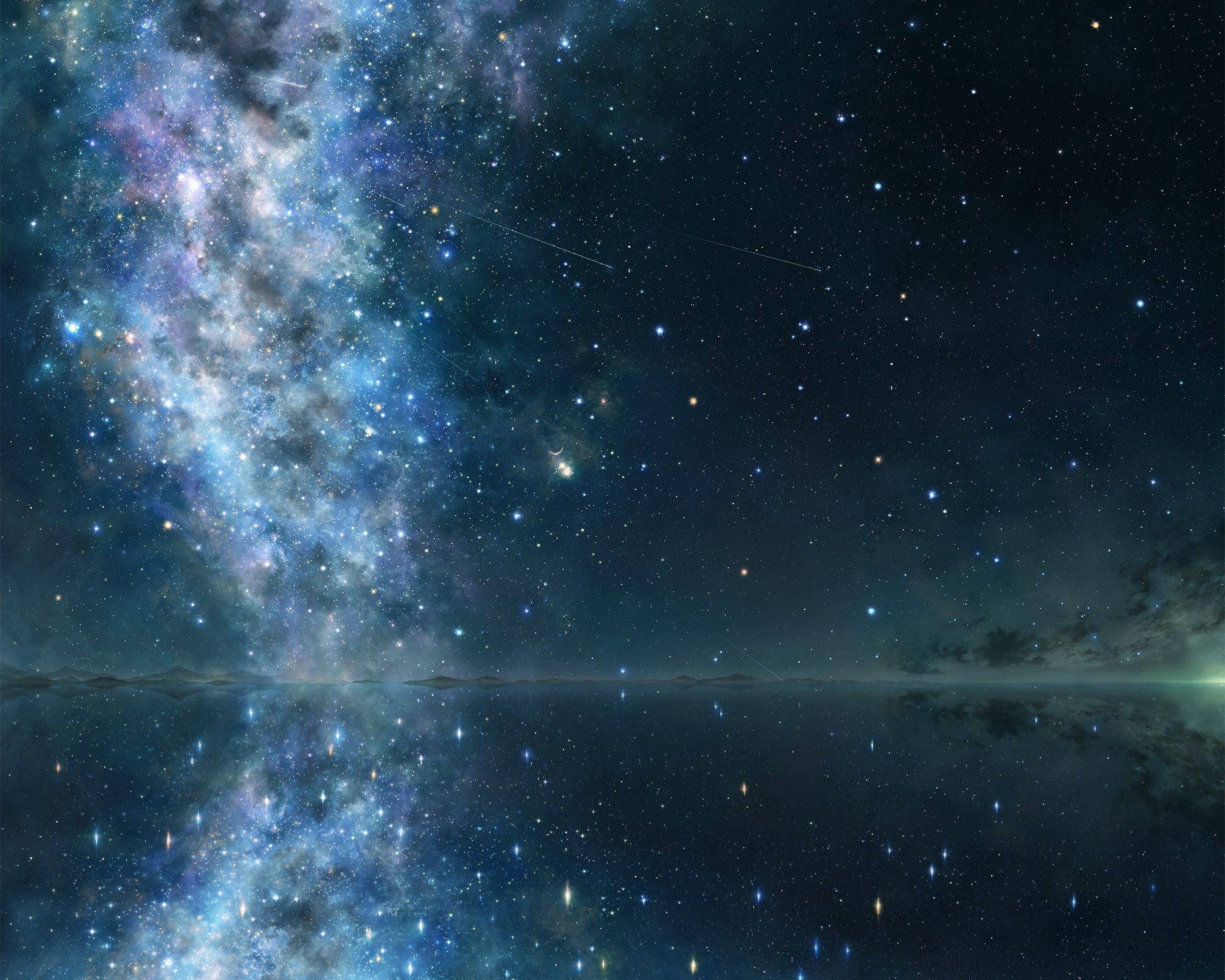 astronomy human and night sky