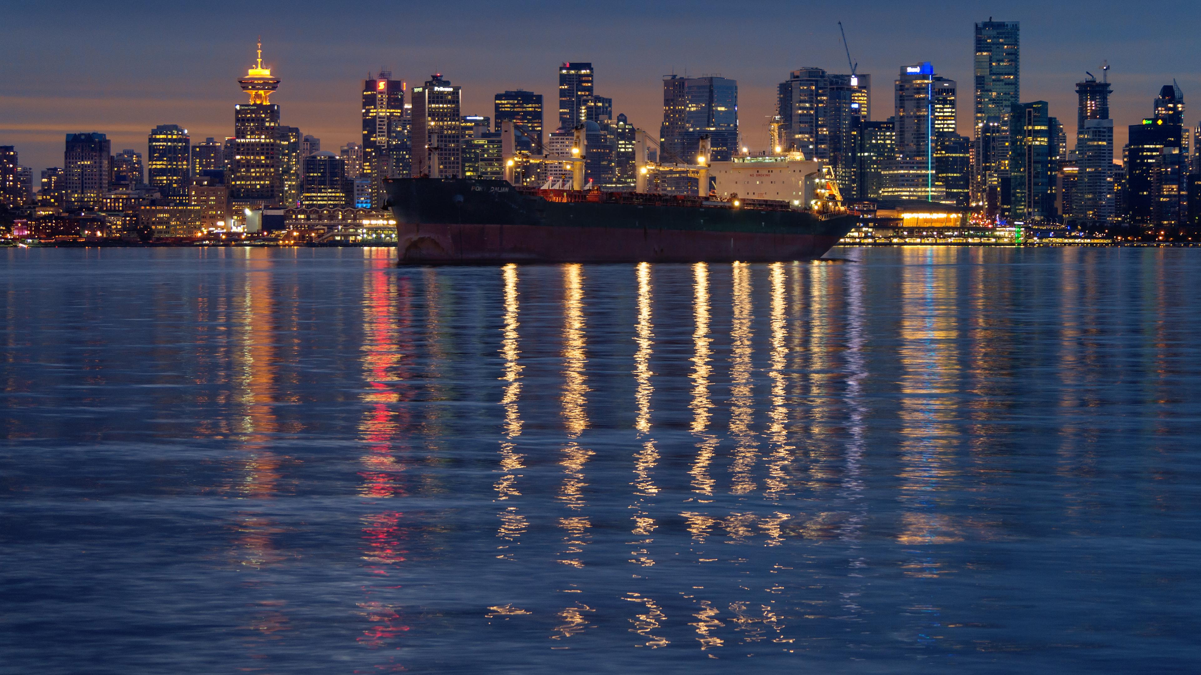 страны архитектура корабли река Канада Ванкувер загрузить