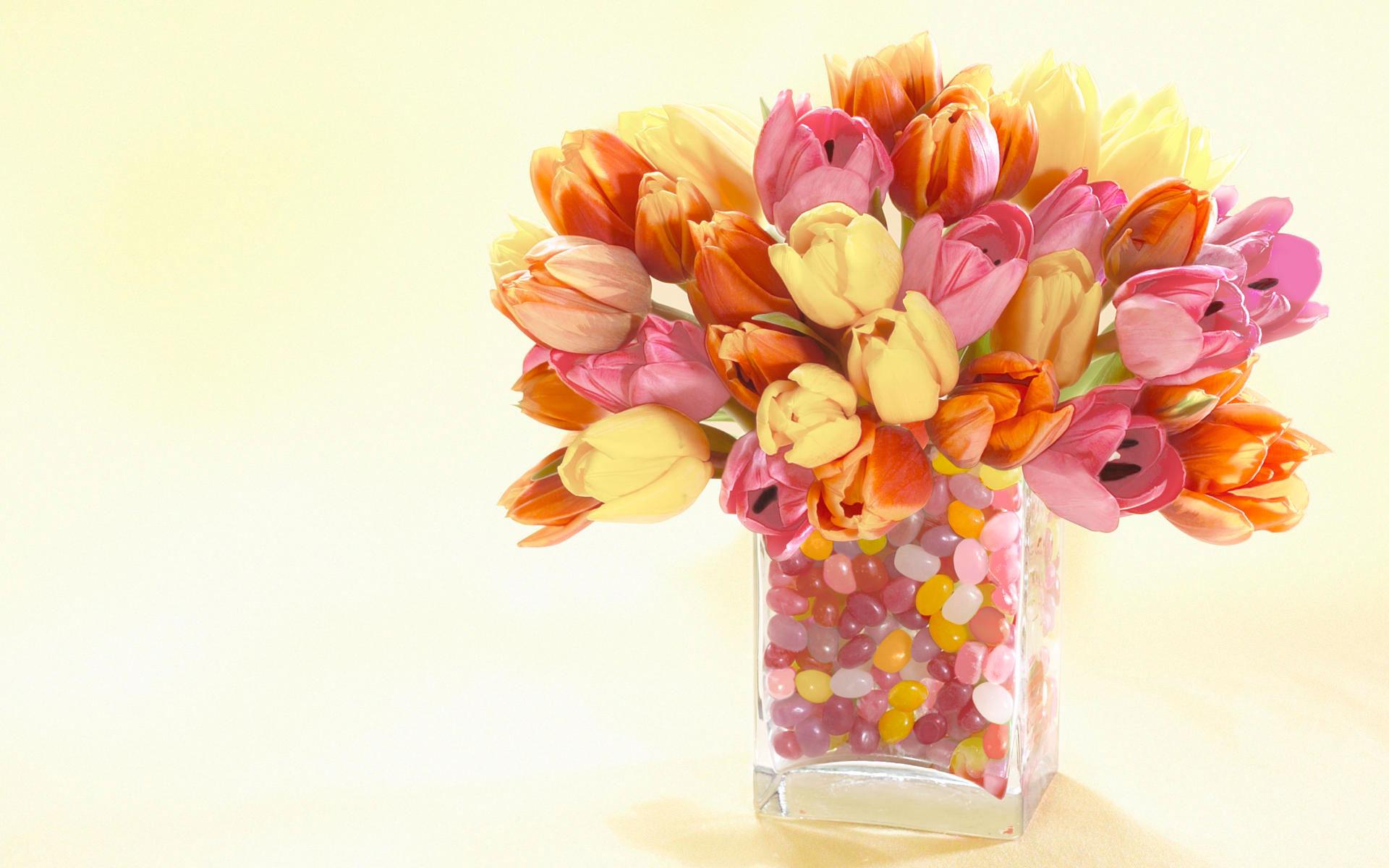 тюльпаны букет мешковина загрузить