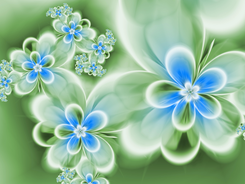 День валентина, открытки с голубыми цветами