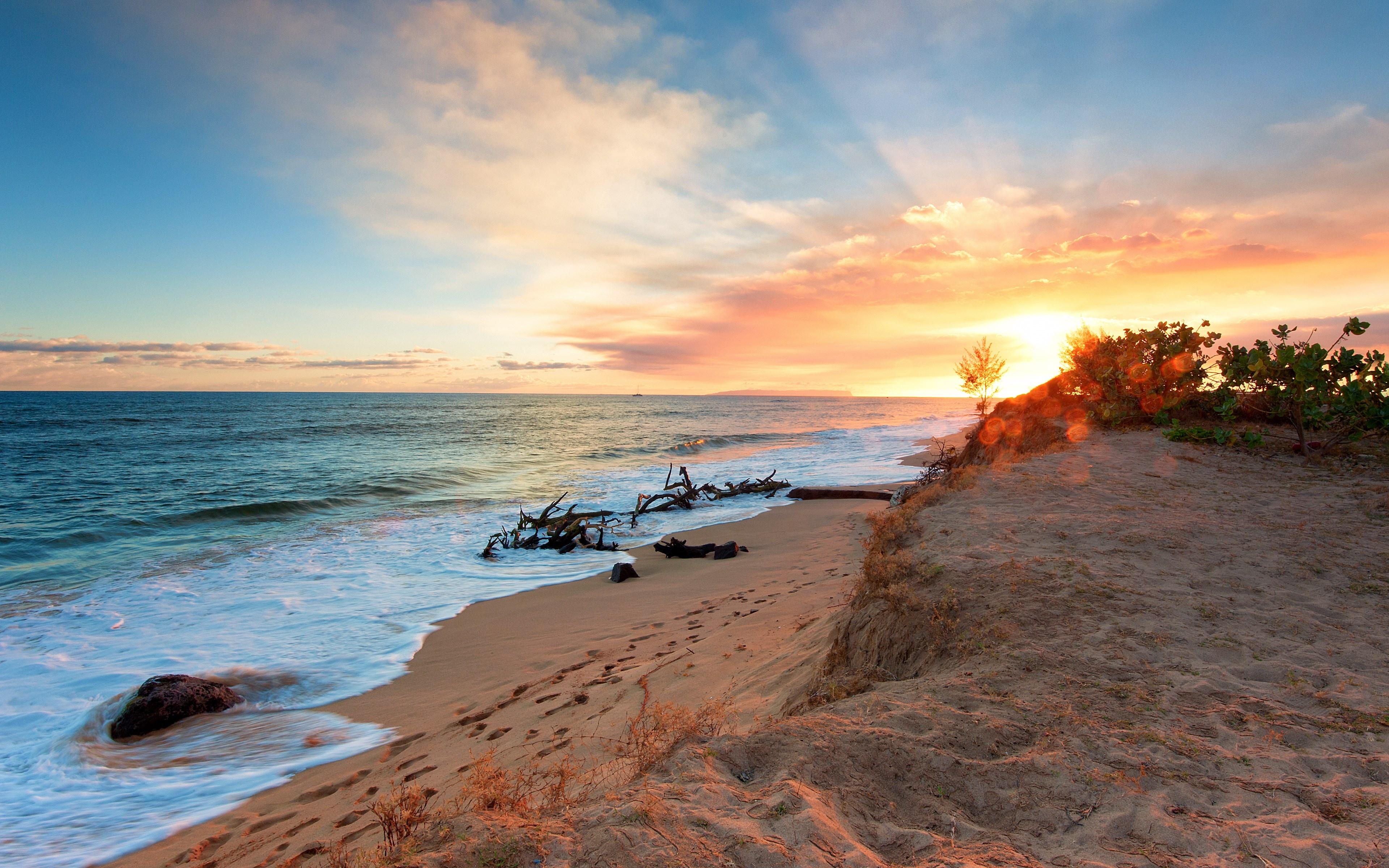 Пляж песок закат загрузить