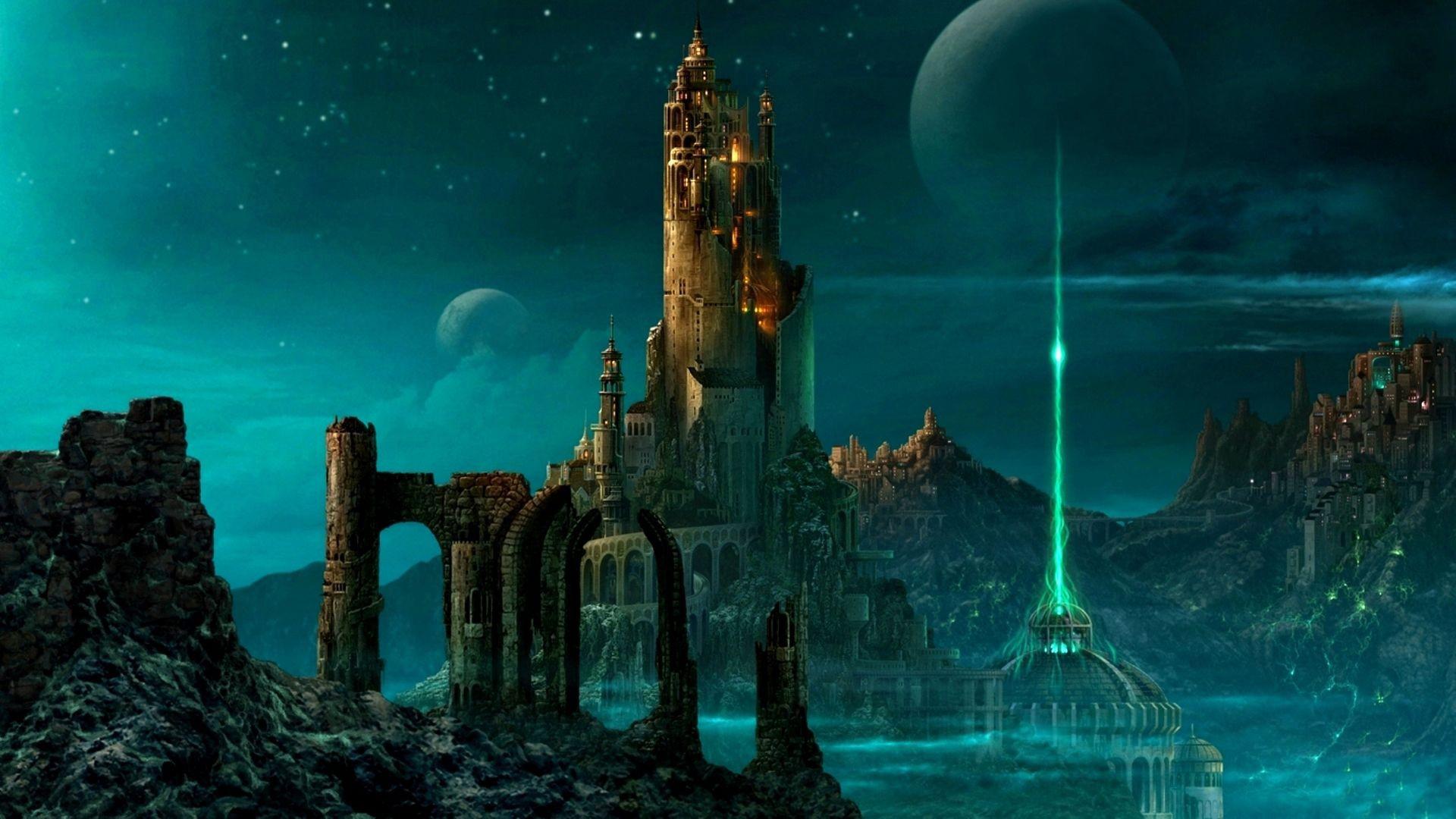 Замок в лучах света  № 917186 бесплатно