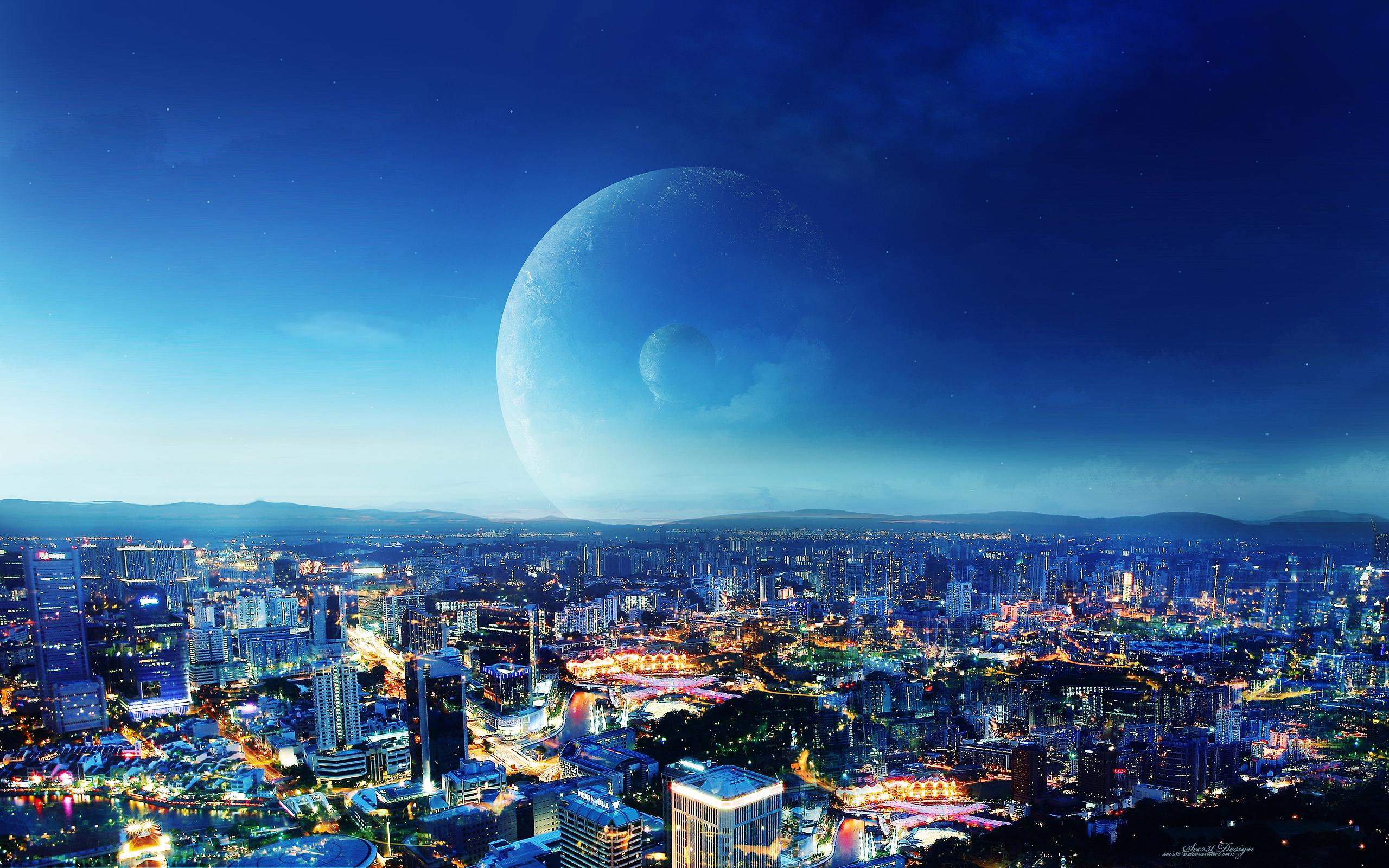 Город ночь небо  № 3705646 без смс