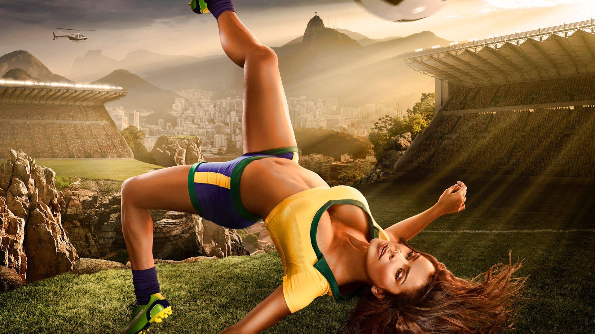 Женский футбол в хорошем качестве