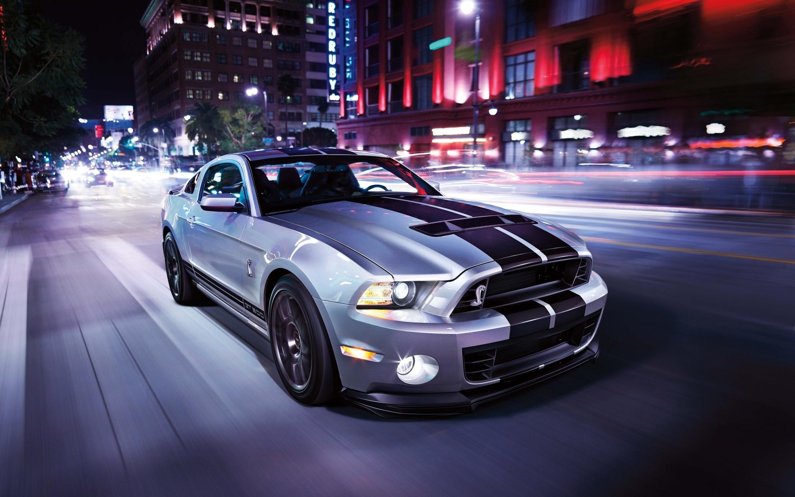 Ford Mustang дорога ночь без смс