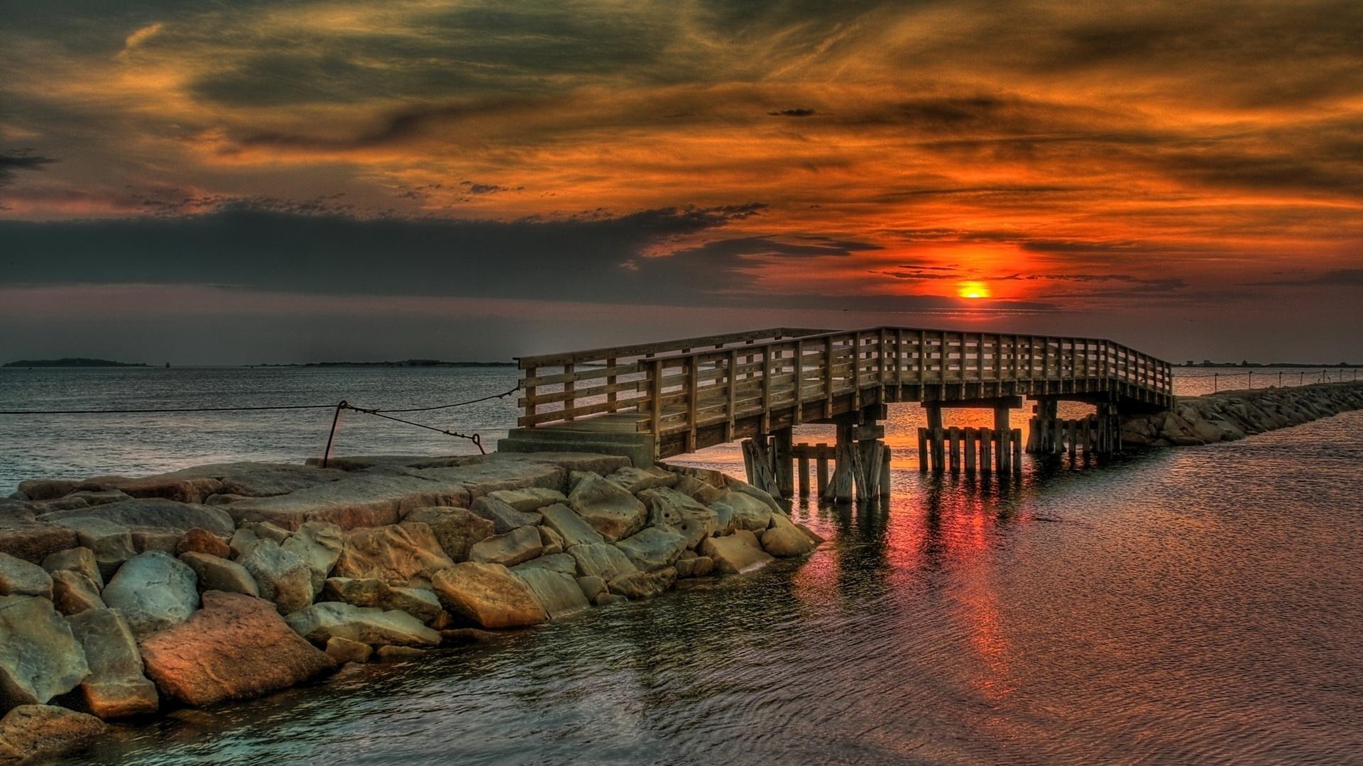природа море мост  № 70160 загрузить