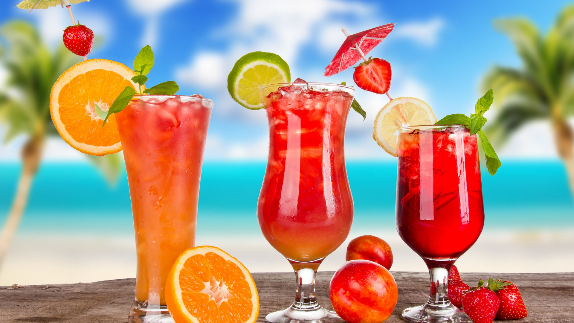 еда сок апельсины клубника кокос коктейль без смс