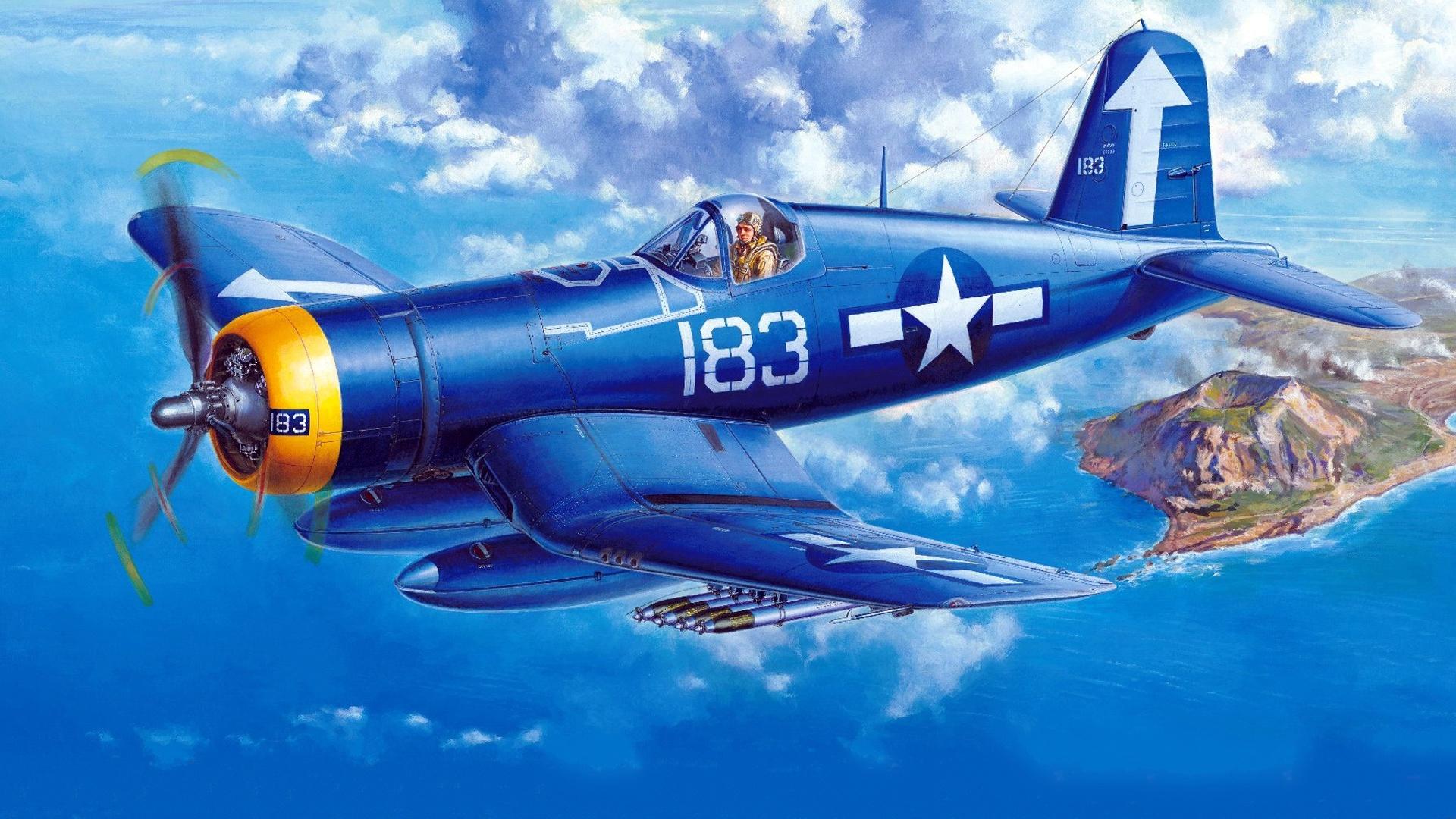 Chance Vought F4U Corsair  № 2361707 загрузить
