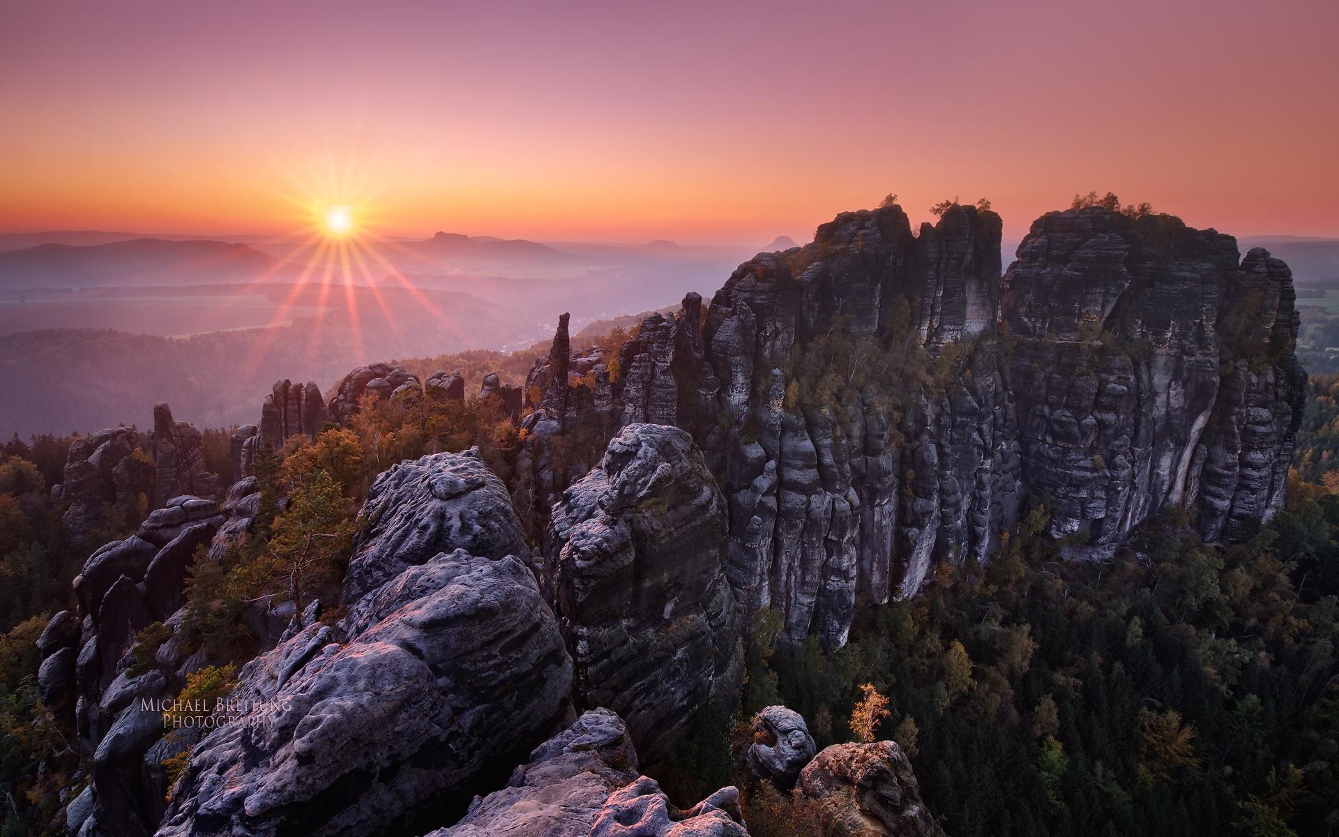 скалы горы закат  № 371278  скачать