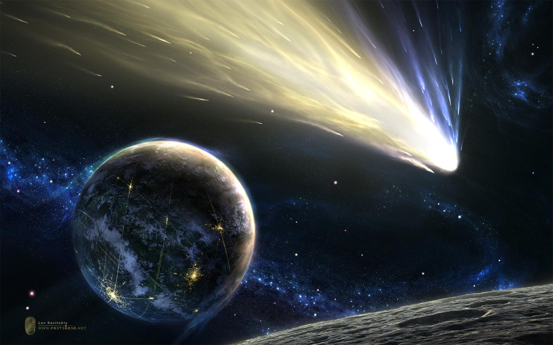 Обои космос метеориты планета картинки на рабочий стол на тему Космос - скачать бесплатно